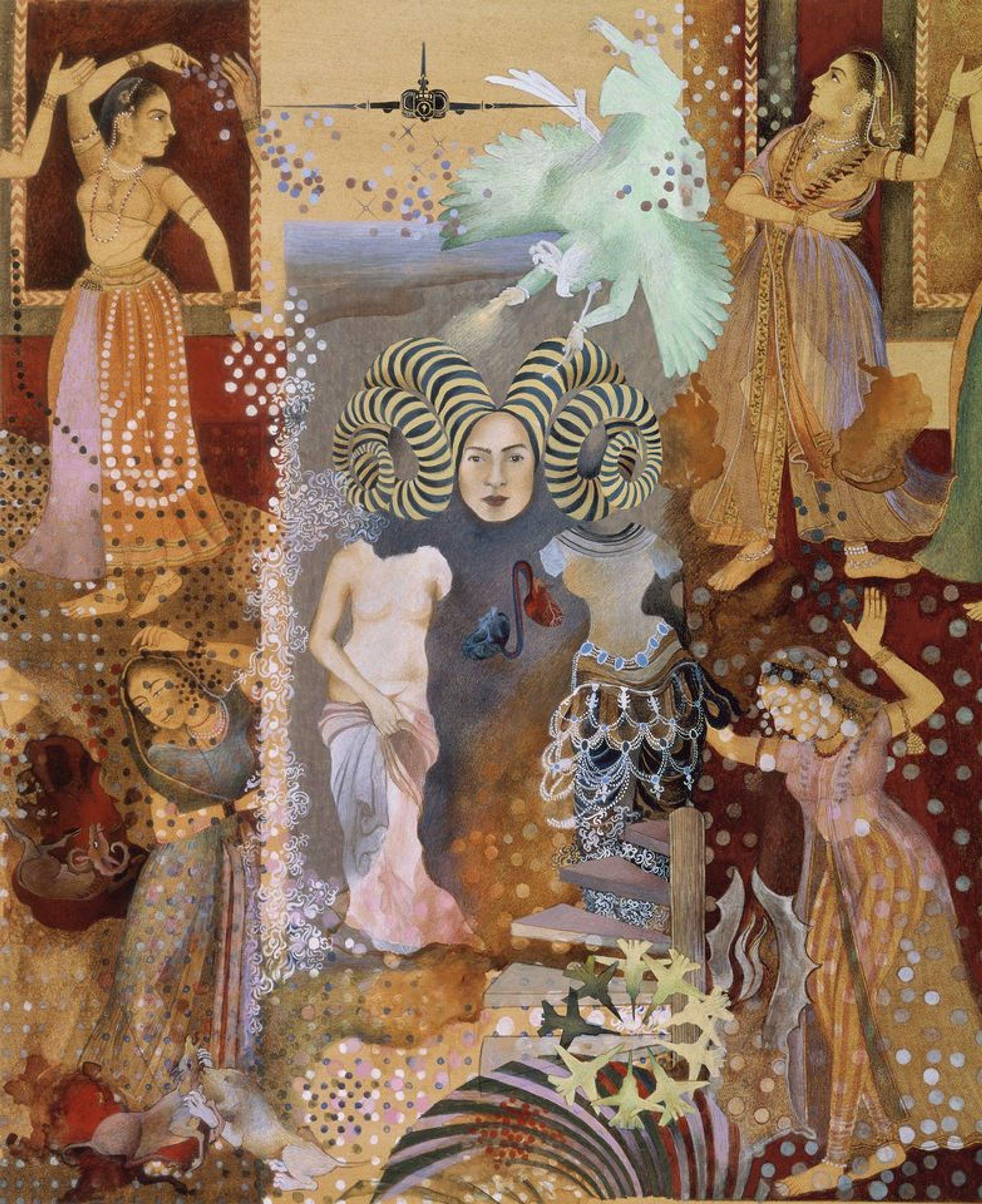 Shahzia Sikander, Pleasure Pillars (2001) © Shahzia Sikander