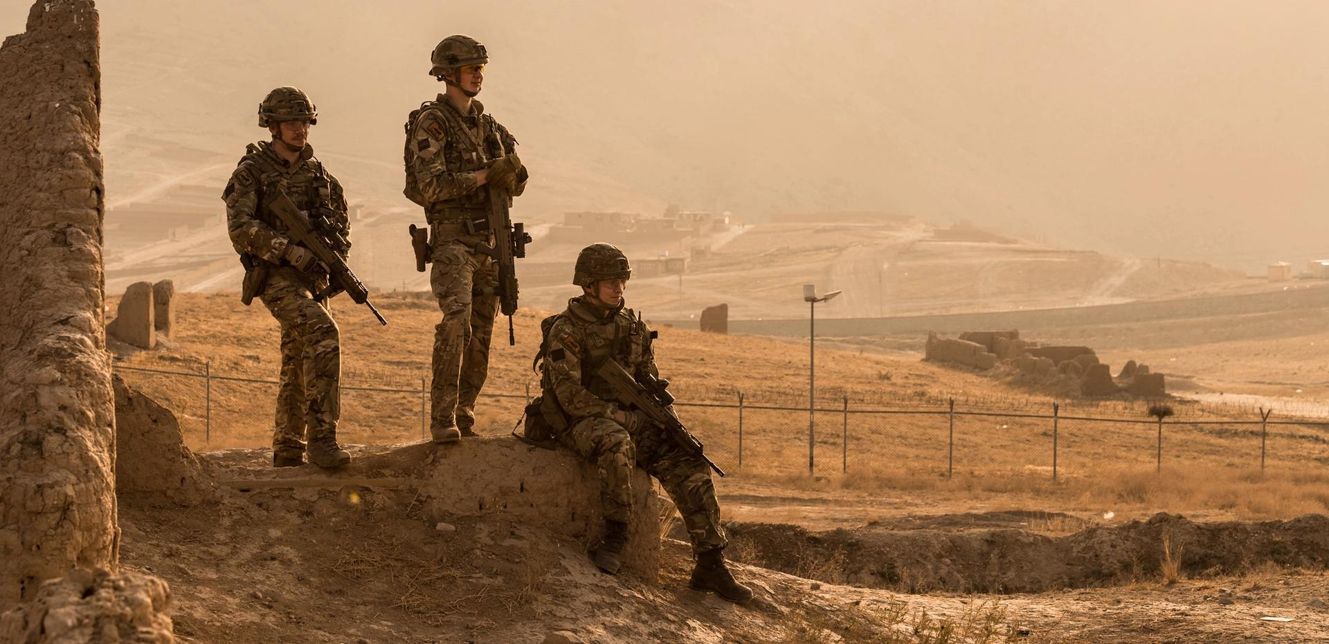 British Army forces stationed outside Kabul Courtesy of UK Ministry of Defence