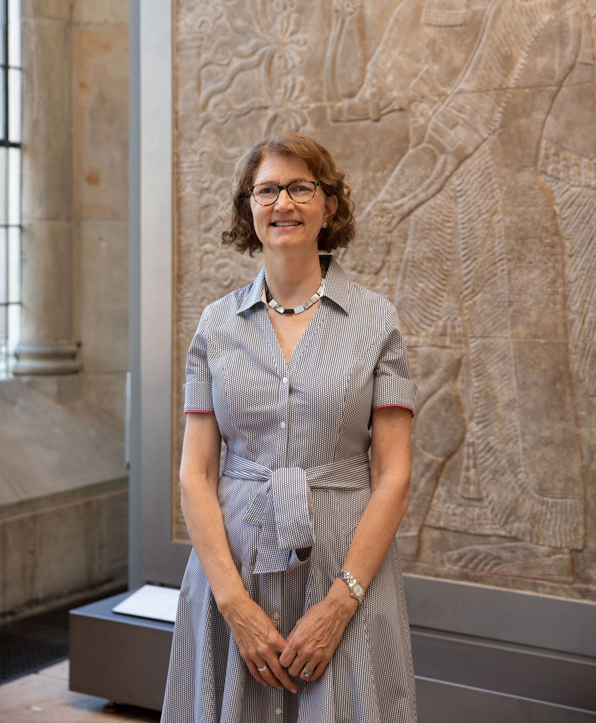 Stephanie Wiles, the Henry J. Heinz II Director, in the Isabel B. and Wallace S. Wilson Gallery of Ancient Art, Yale University Art Gallery