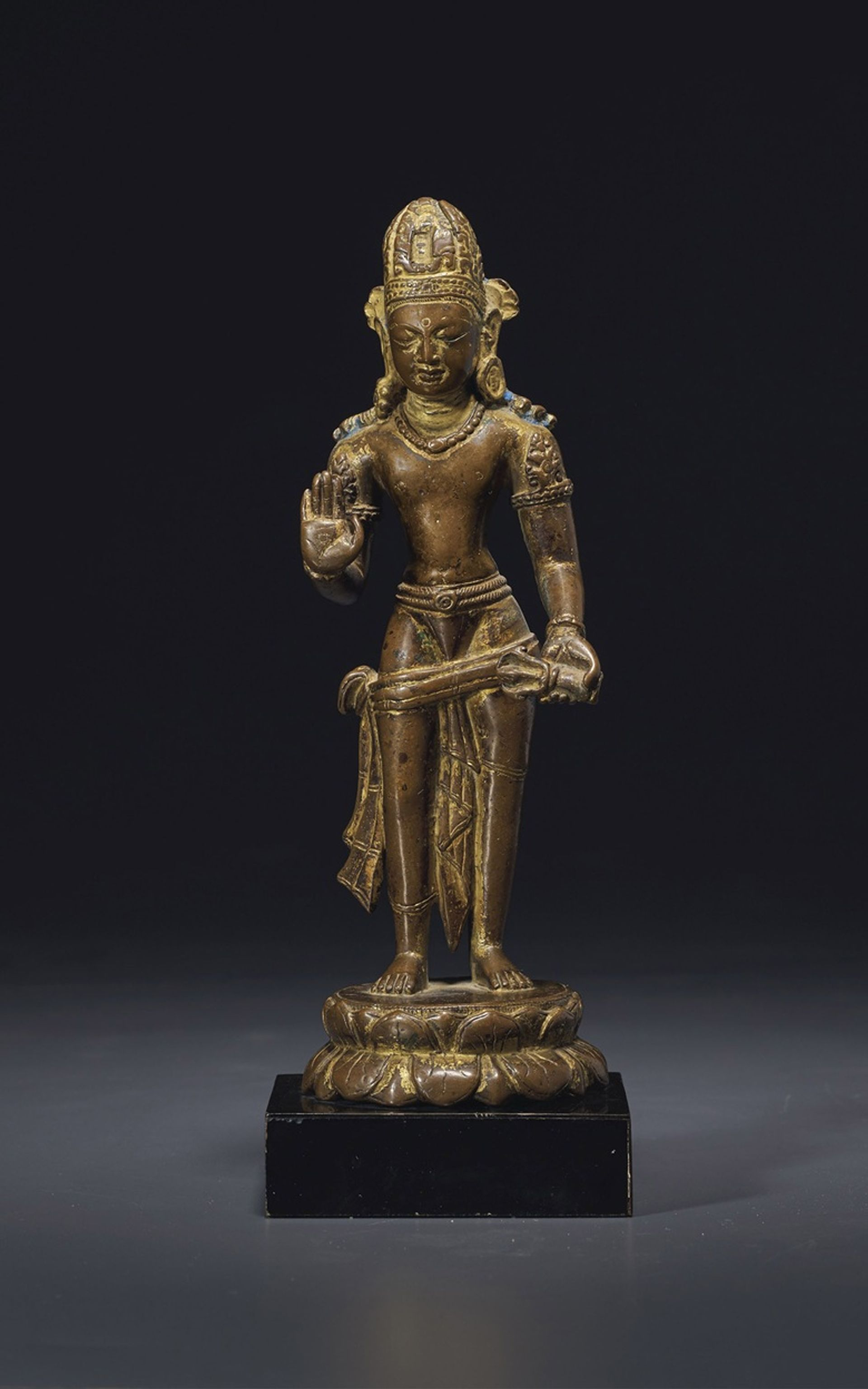Christie's has moved most of its Asian art auction to June, including the sale of works from the collection of James and Marilynn Alsdorf, including this rare gilt-bronze figure of Vajrapani, from Nepal, Licchavi Period, 9th-10th century (est: $60,000-$80,000)