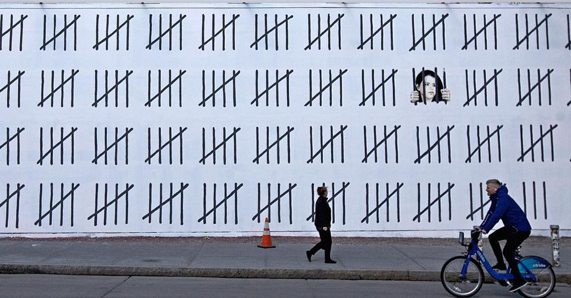 The first Banksy mural to be noticed, and certainly the largest thus far, is a 70-foot mural at the corner of Houston Street and Bowery that protests the imprisonment of the ethnic Kurdish artist and journalist, Zehra Dogan