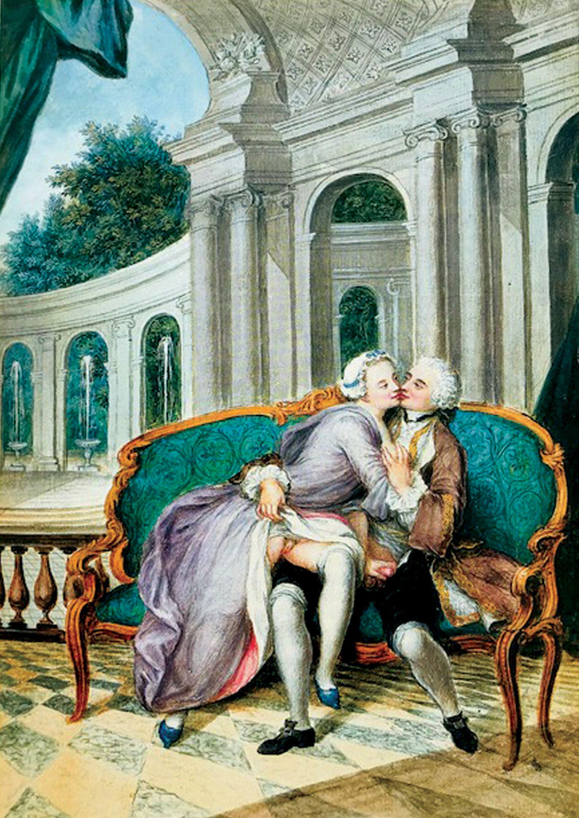 Porn for the rich: Antoine Alexandre Marolles, an episode from Tableaux des mœurs  du temps dans les différens âges de la vie (1750)
