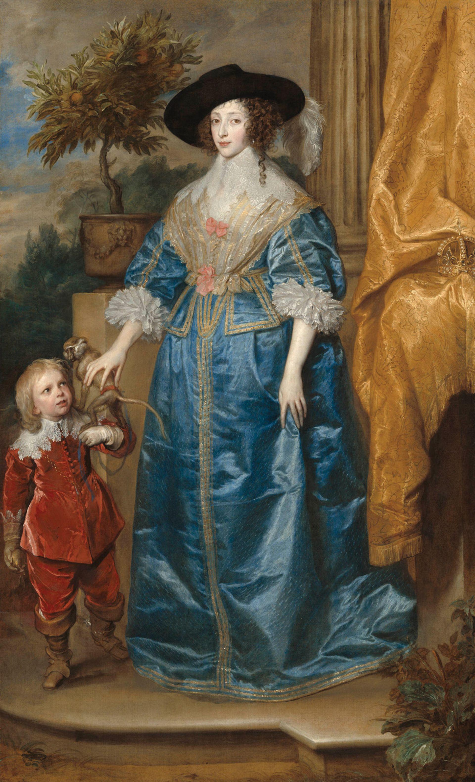 Van Dyck: Queen Henrietta Maria with Sir Jeffrey Hudson, 1633 National Gallery of Art, Washington