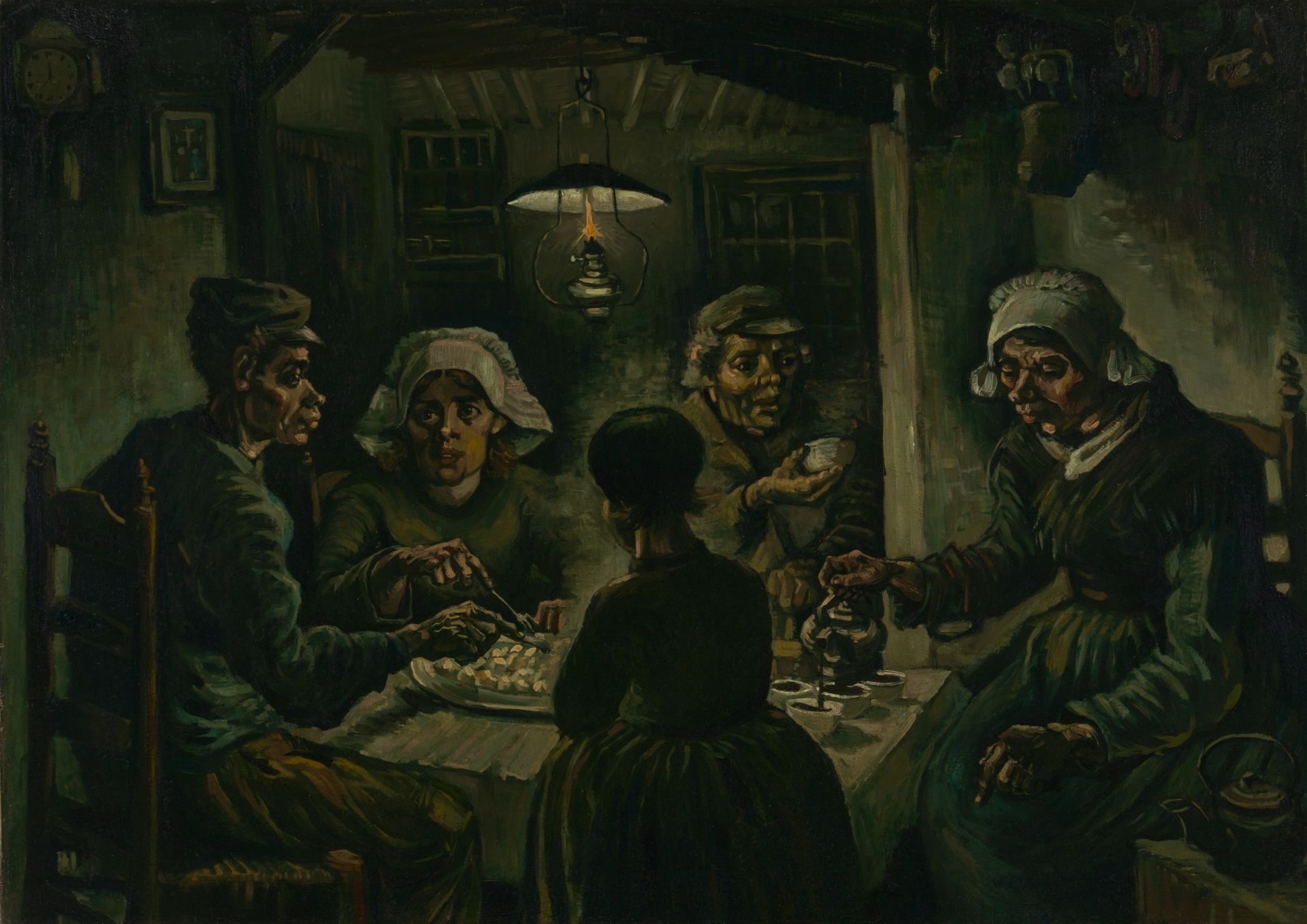 Vincent van Gogh's The Potato Eaters (April-May 1885) Courtesy of the Van Gogh Museum, Amsterdam (Vincent van Gogh Foundation)