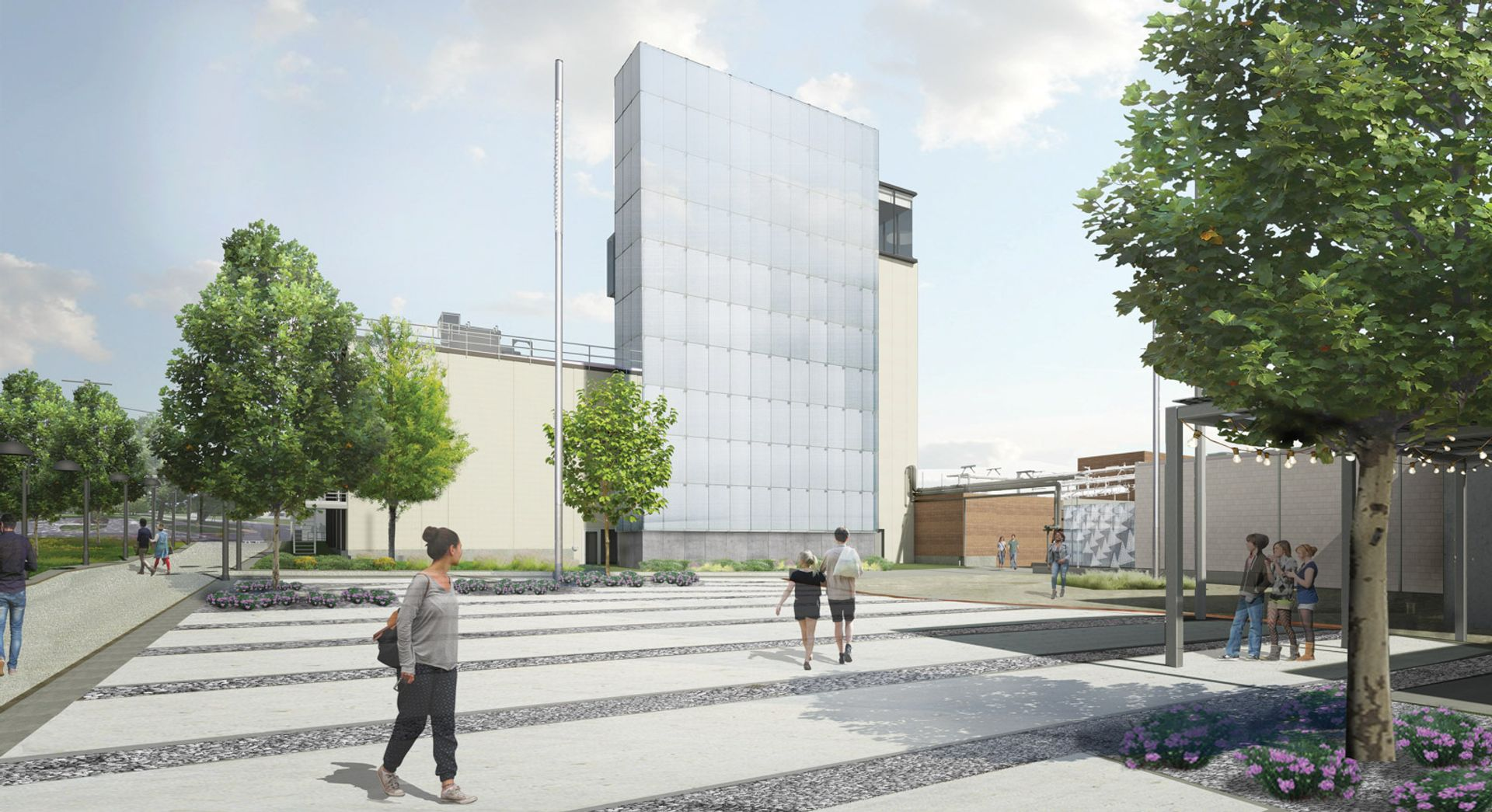 A rendering of the Momentary's southern courtyard Courtesy of the Momentary, Bentonville, Arkansas