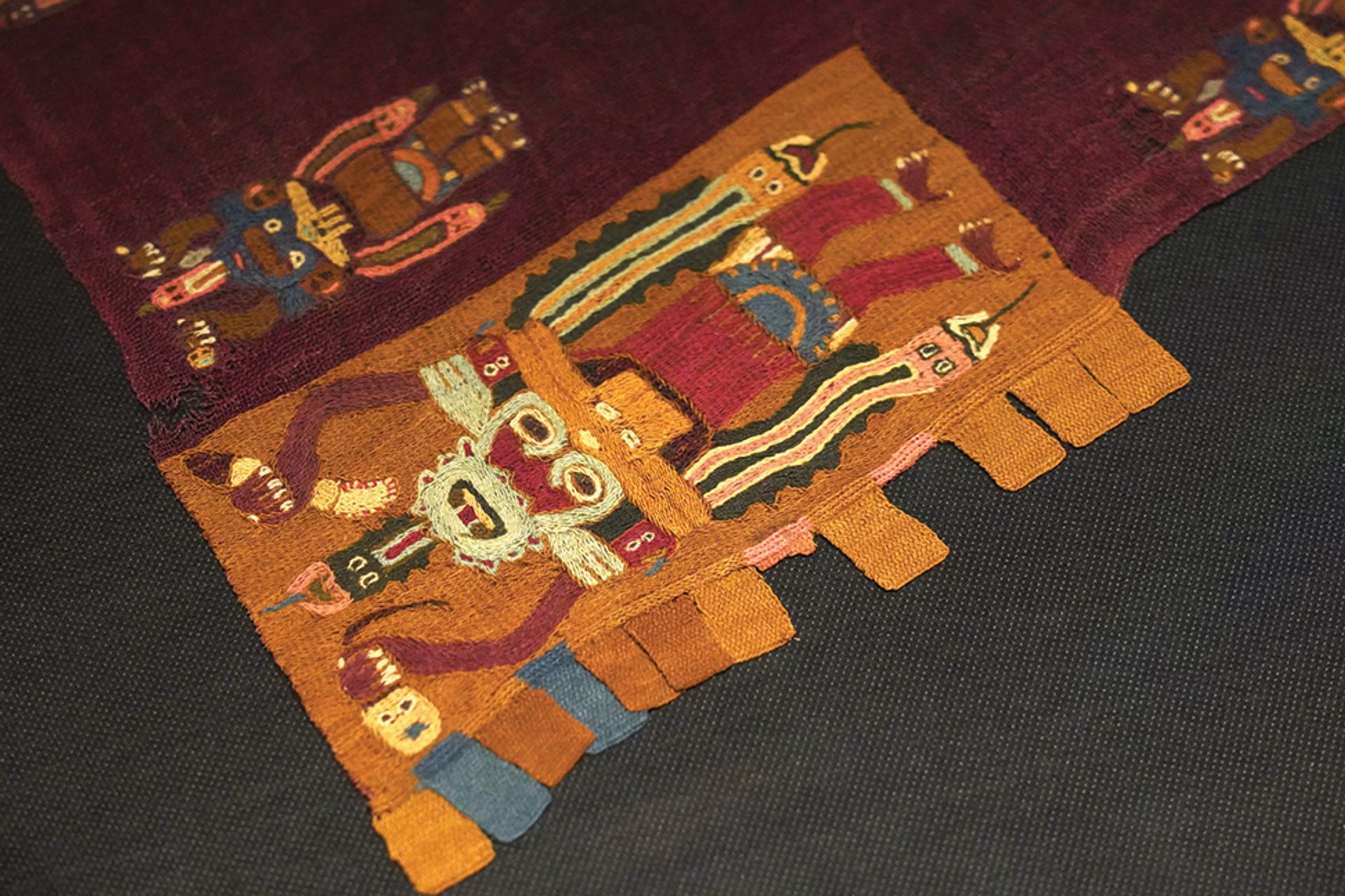 The new museum south of Lima contains textiles and other recently repatriated artefacts Courtesy of the Museo Nacional del Perú