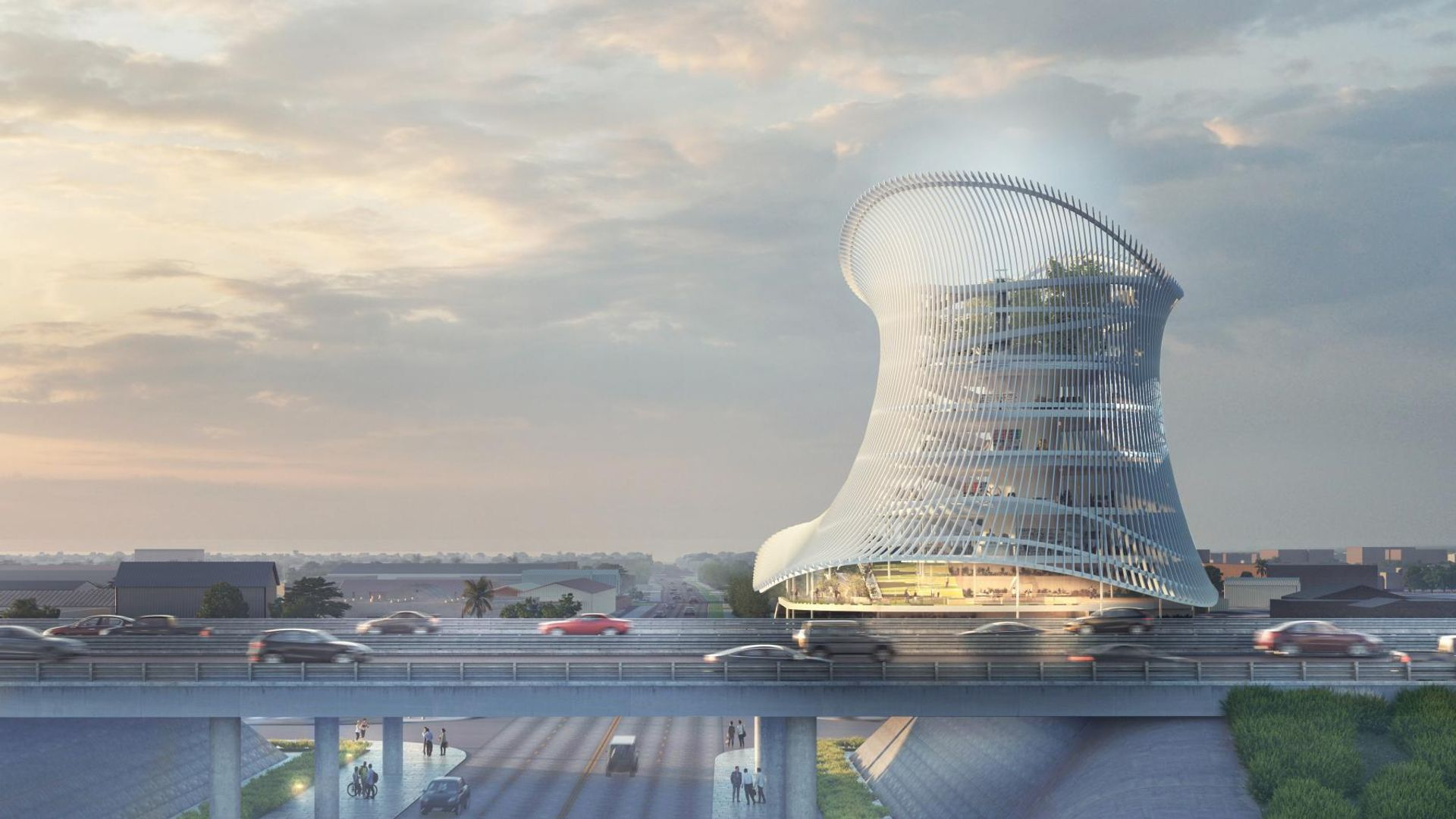 Architect's rendering of the Pulse Museum exterior Image Coldefy & Associés with RDAI/onePULSE Foundation