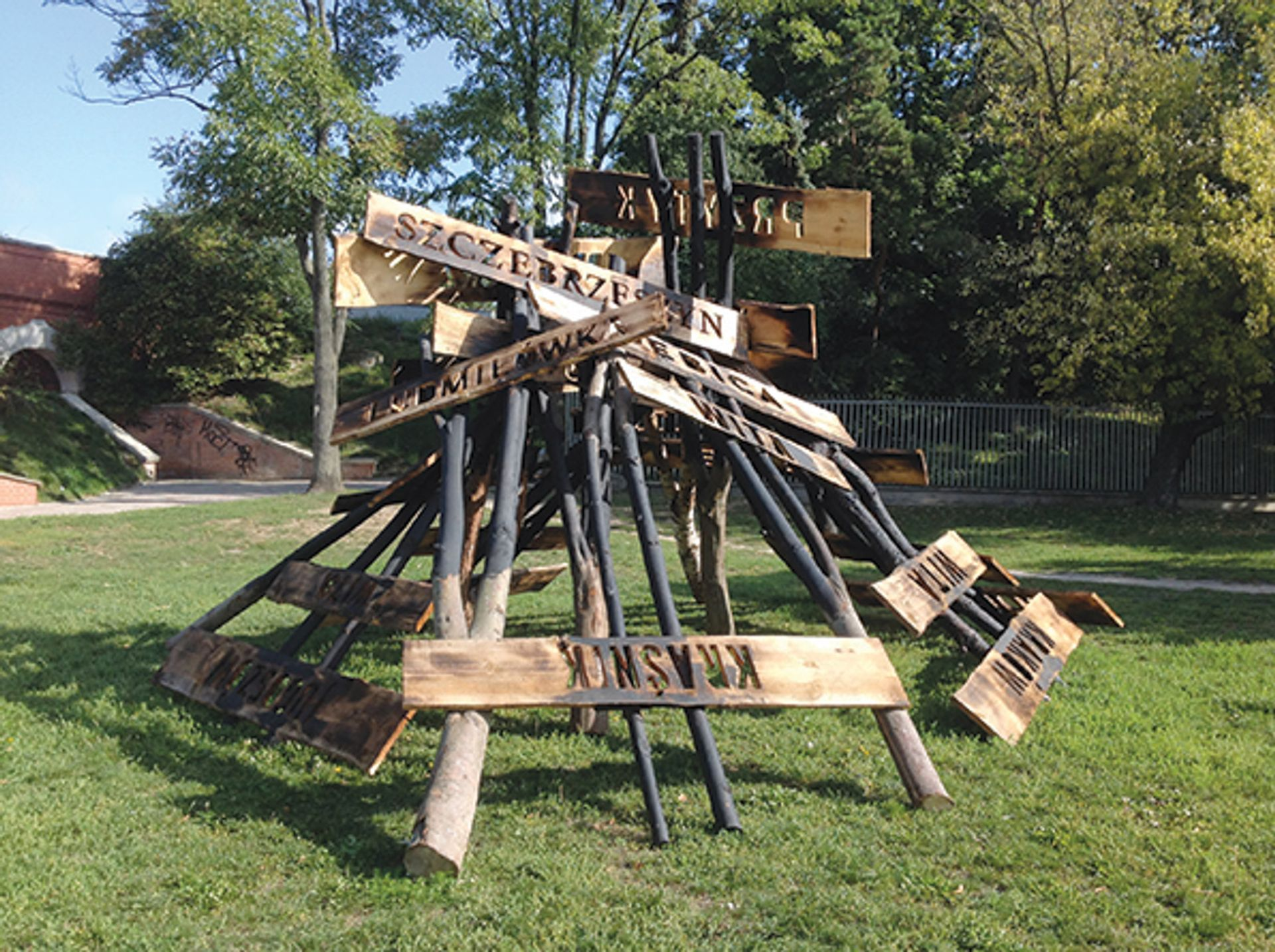 Dorota Nieznalska's installation Judenfrei marks pogrom sites in Lublin Courtesy of the artist and Tomasz Kitlinski