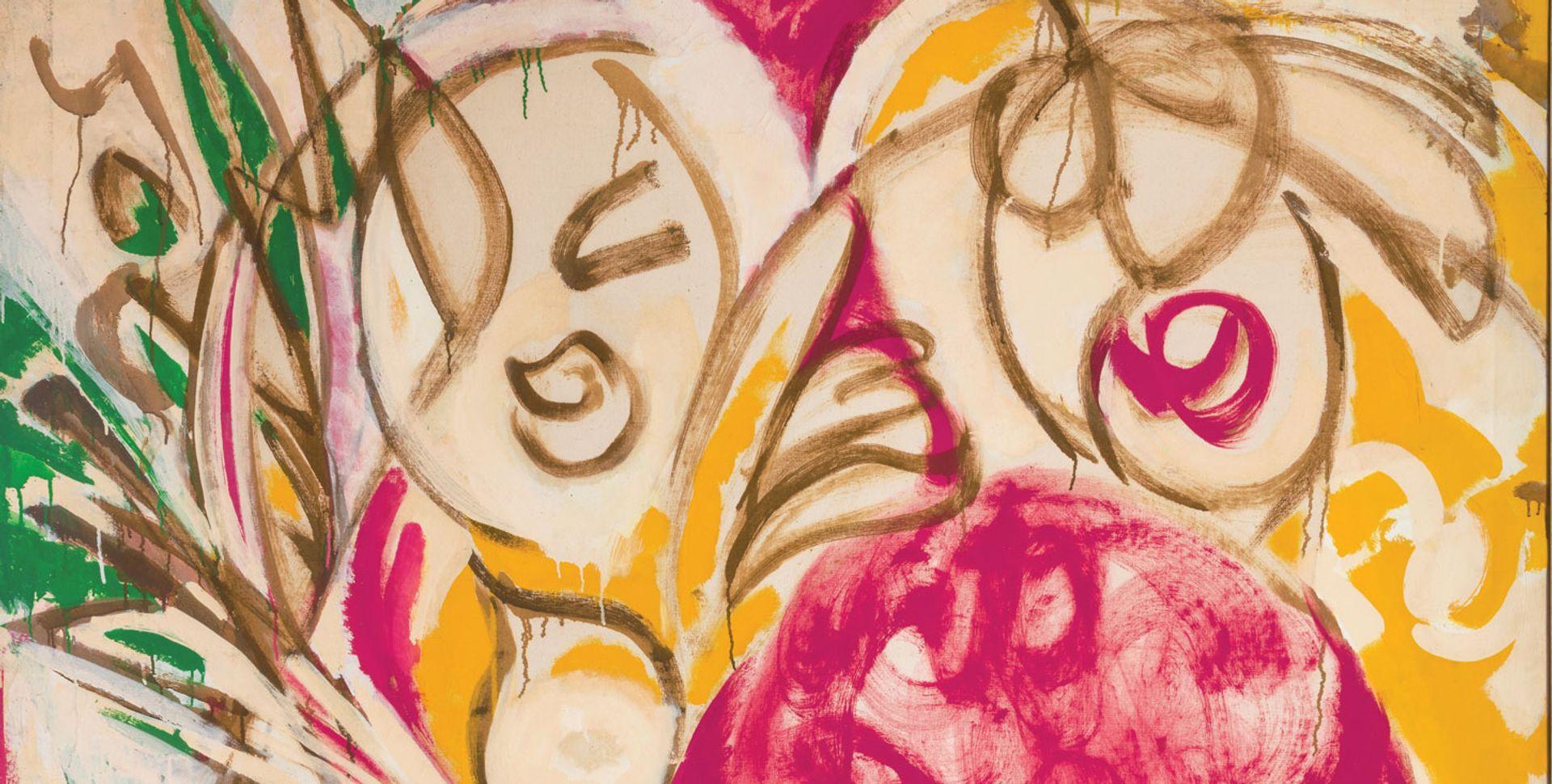 Detail of Lee Krasner's Sunwoman, I (1957) (Courtesy Kasmin Gallery. Photo: Diego Flores. © 2020 Pollock-Krasner Foundation, ARS) Detail of Lee Krasner's Sunwoman, I (1957) (Courtesy Kasmin Gallery. Photo: Diego Flores. © 2020 Pollock-Krasner Foundation, ARS)