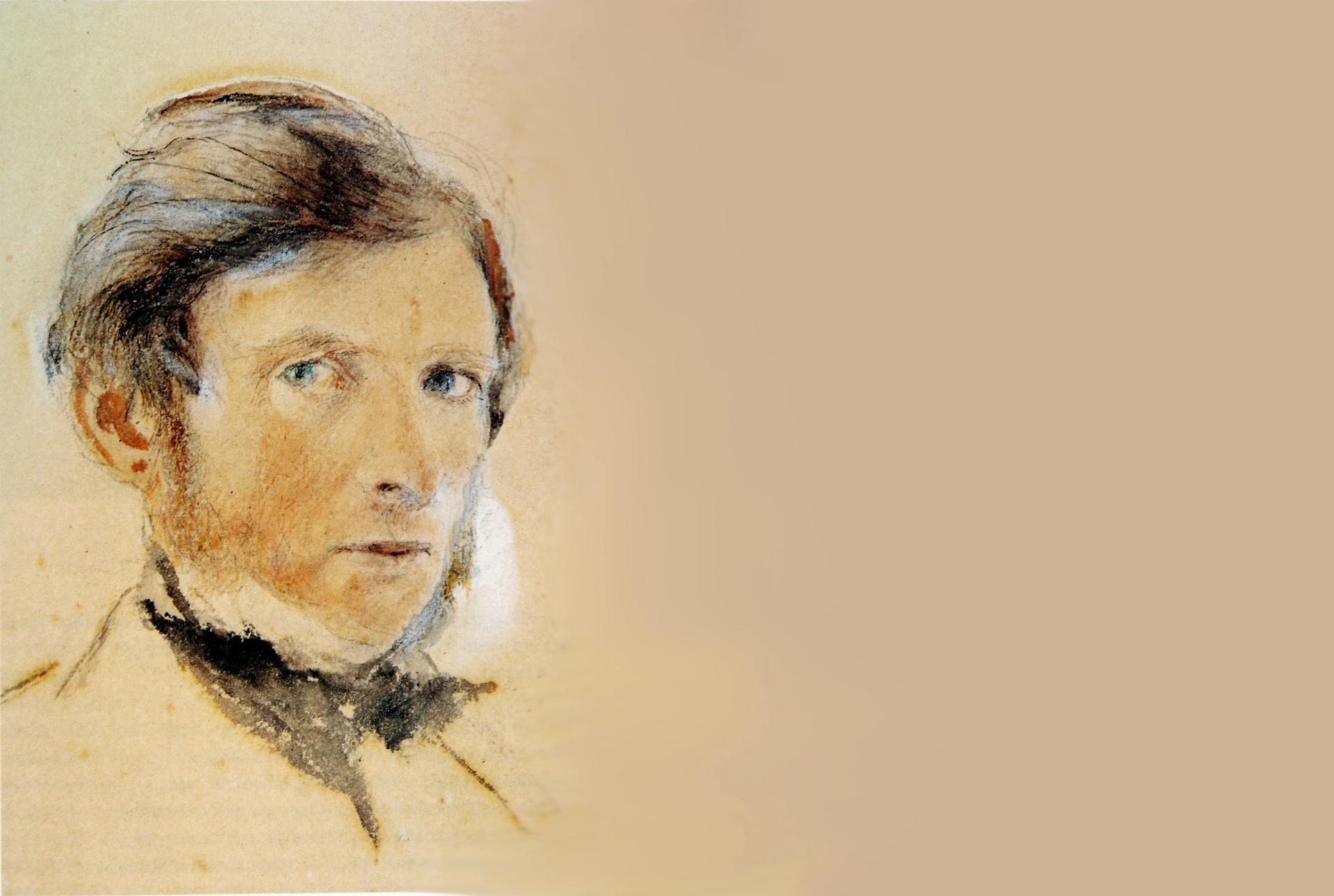 John Ruskin's self portrait (1861)