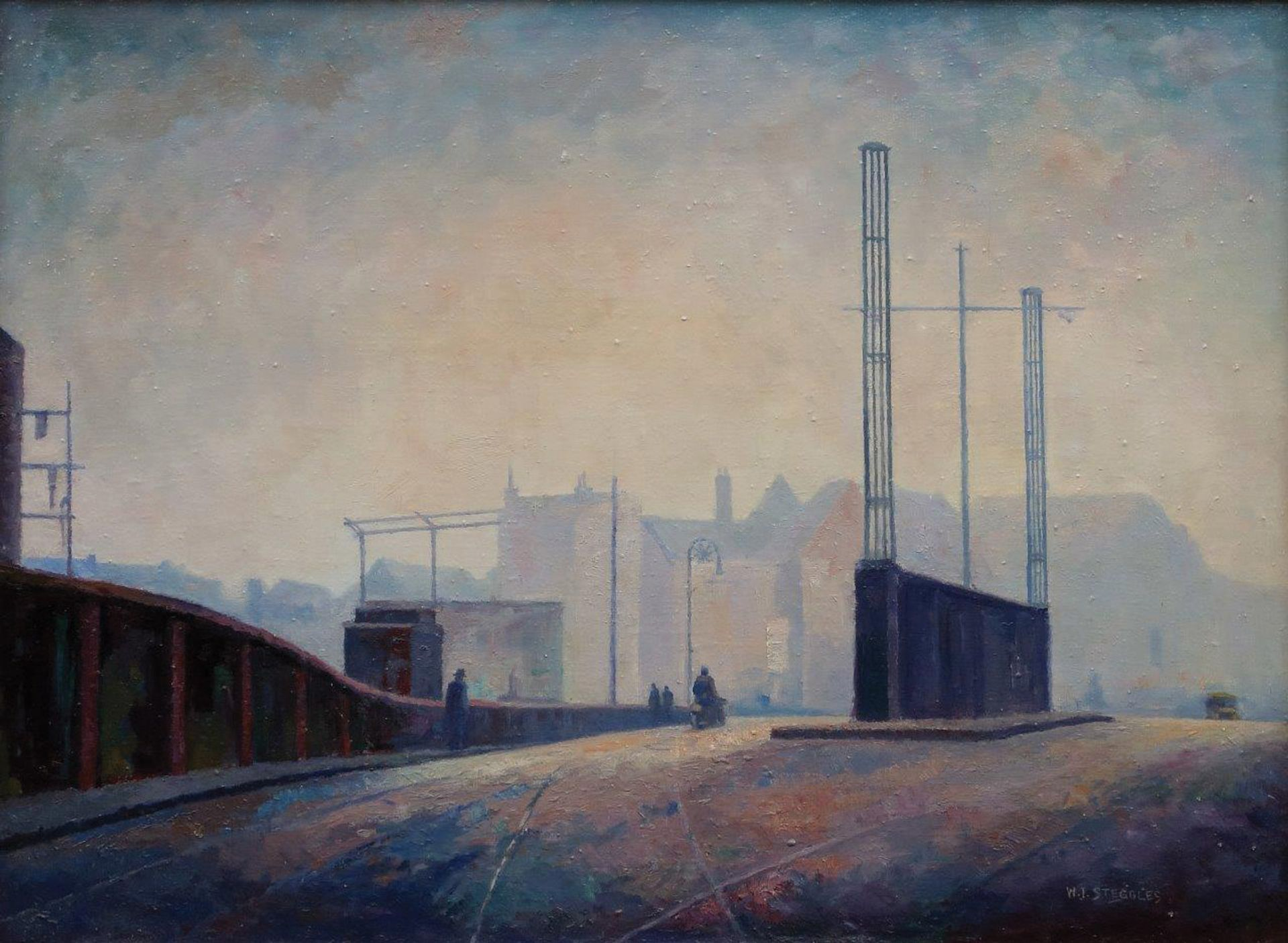 Bow Bridge by Walter Steggles, who along with his brother Harold, was a key figure of the East London Group