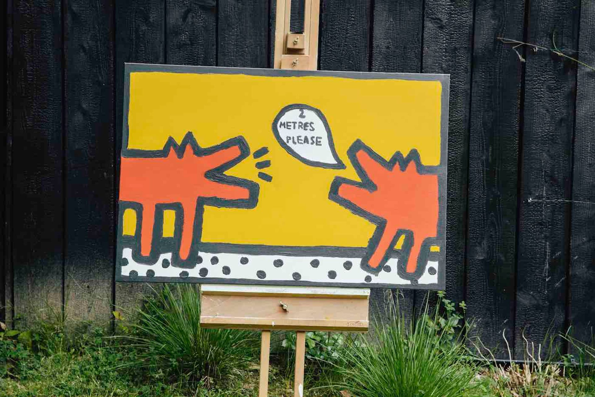 Rollo Jensen, Social Distancing (Inspired by Keith Haring) (2020)