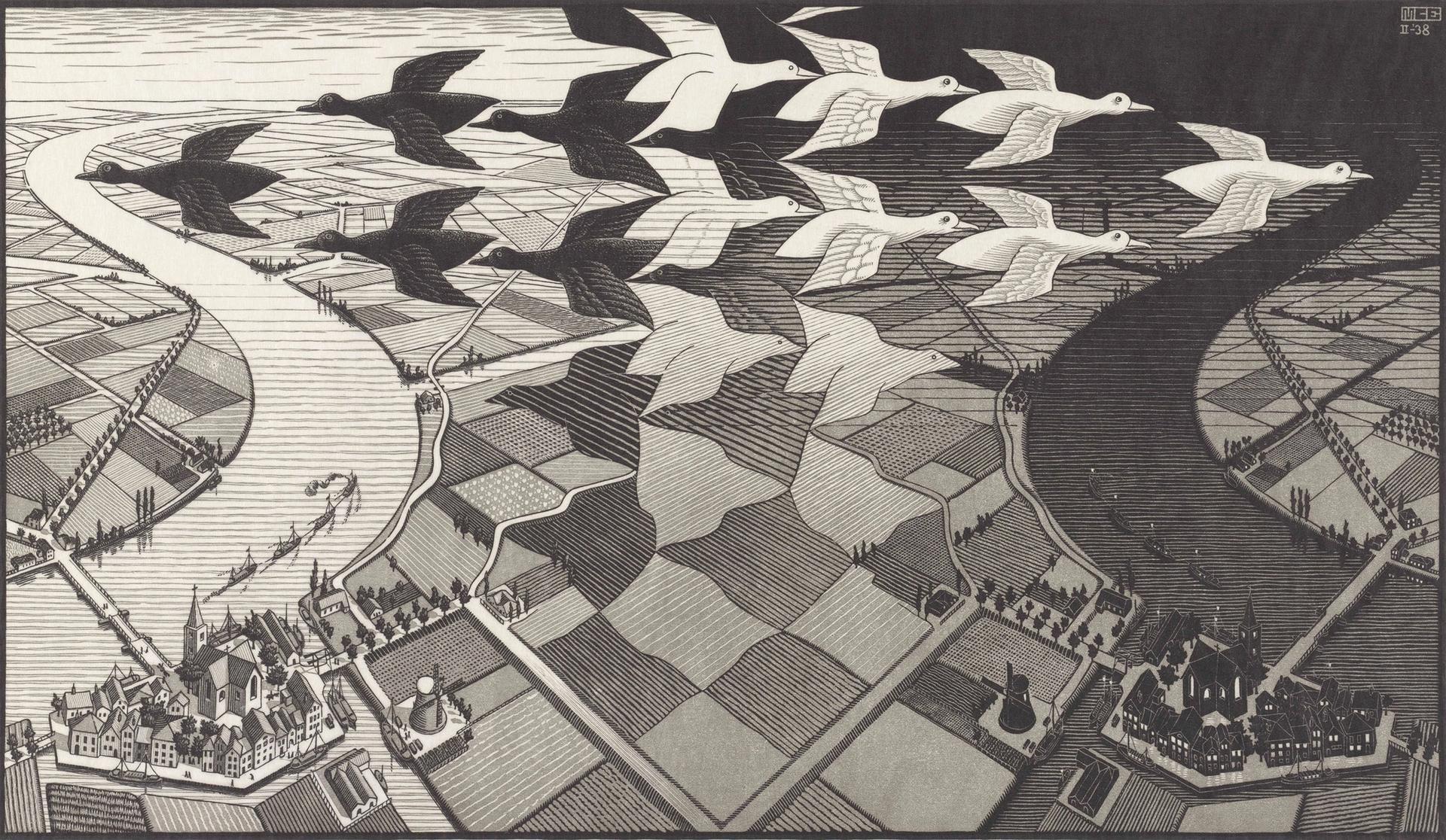 M.C. Escher's Day and Night (1938) The M.C. Escher Company