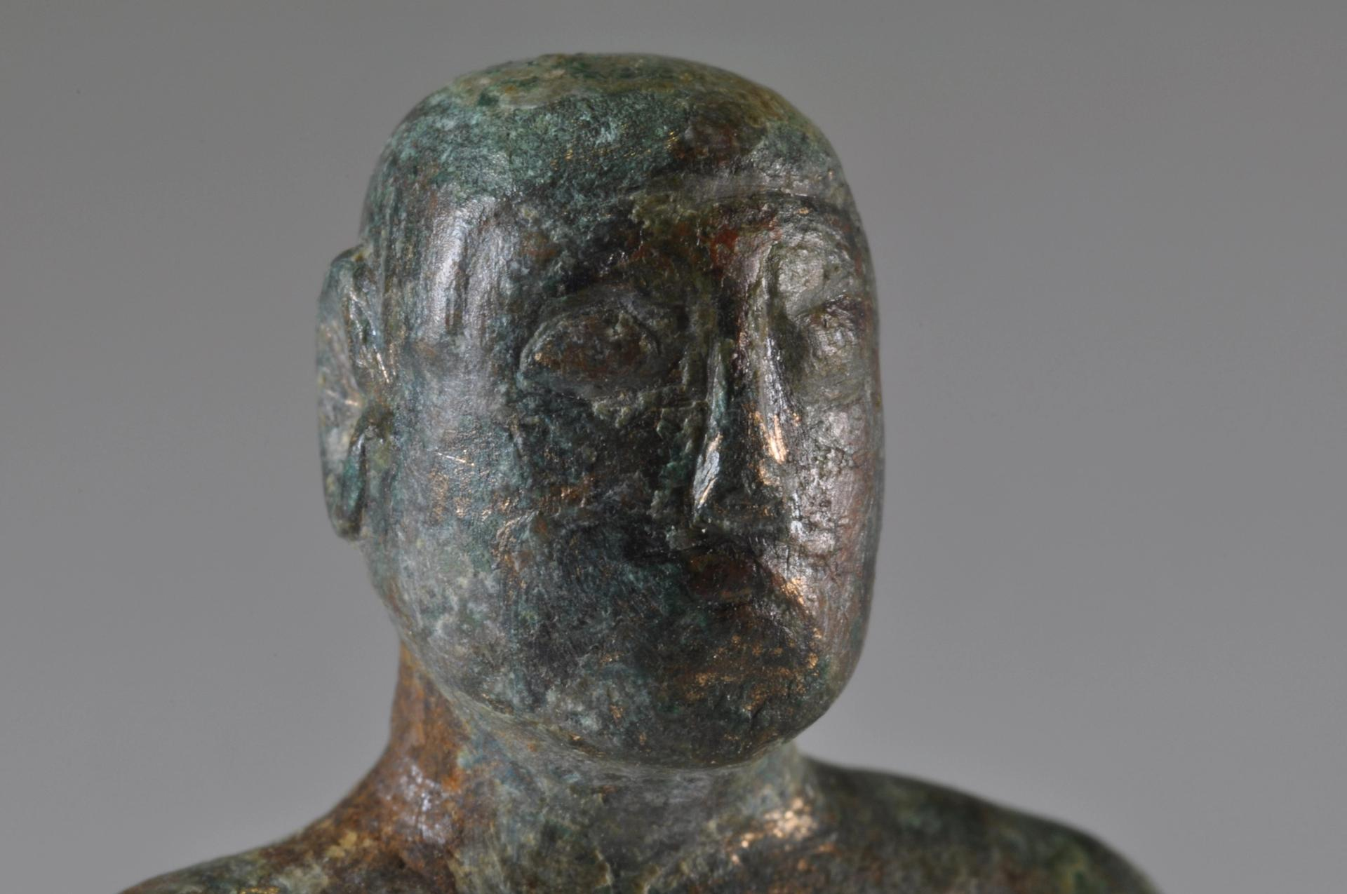 The celtic deity figure found at Wimpole © National Trust, Oxford Archaeology East, James Fairbairn