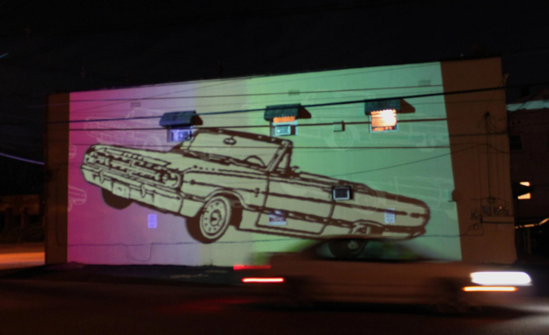 Gardenship's Art House Drive-In series included Pandemic Projections, an evening of video art and art videos curated by Wavelength