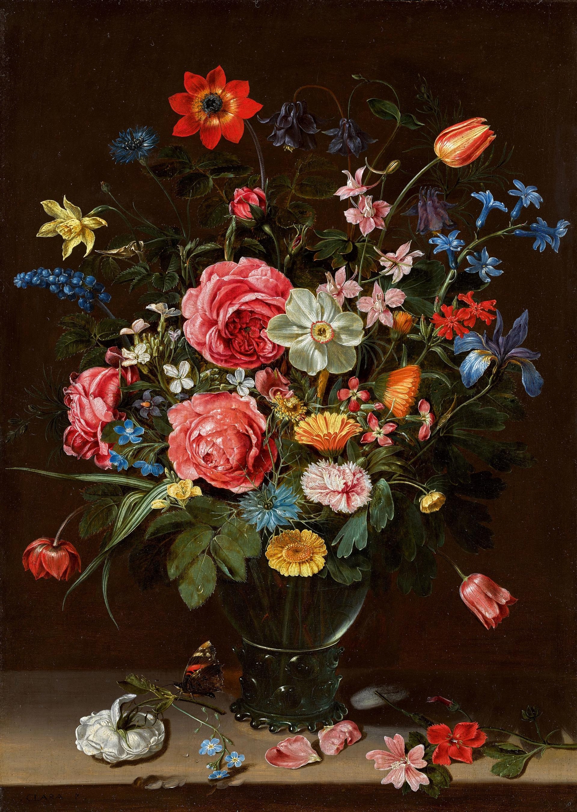 A Bouquet of Flowers (around 1612) by the Flemish painter Clara Peeters Courtesy of the Metropolitan Museum of Art