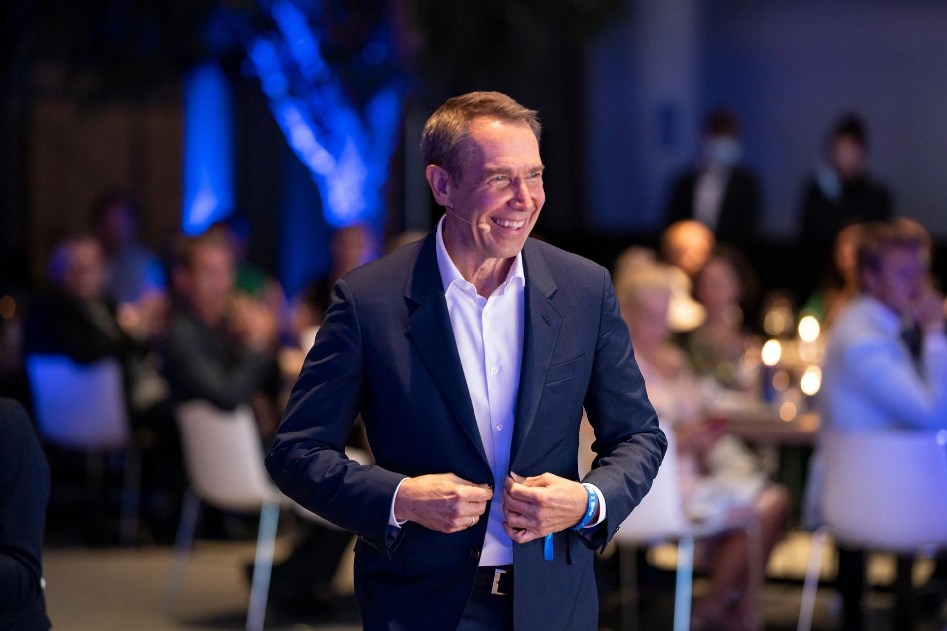 Jeff Koons at the announcement of his BMW collaboration on 4 September 2021. Photo: Enes Kucevic. © BMW AG
