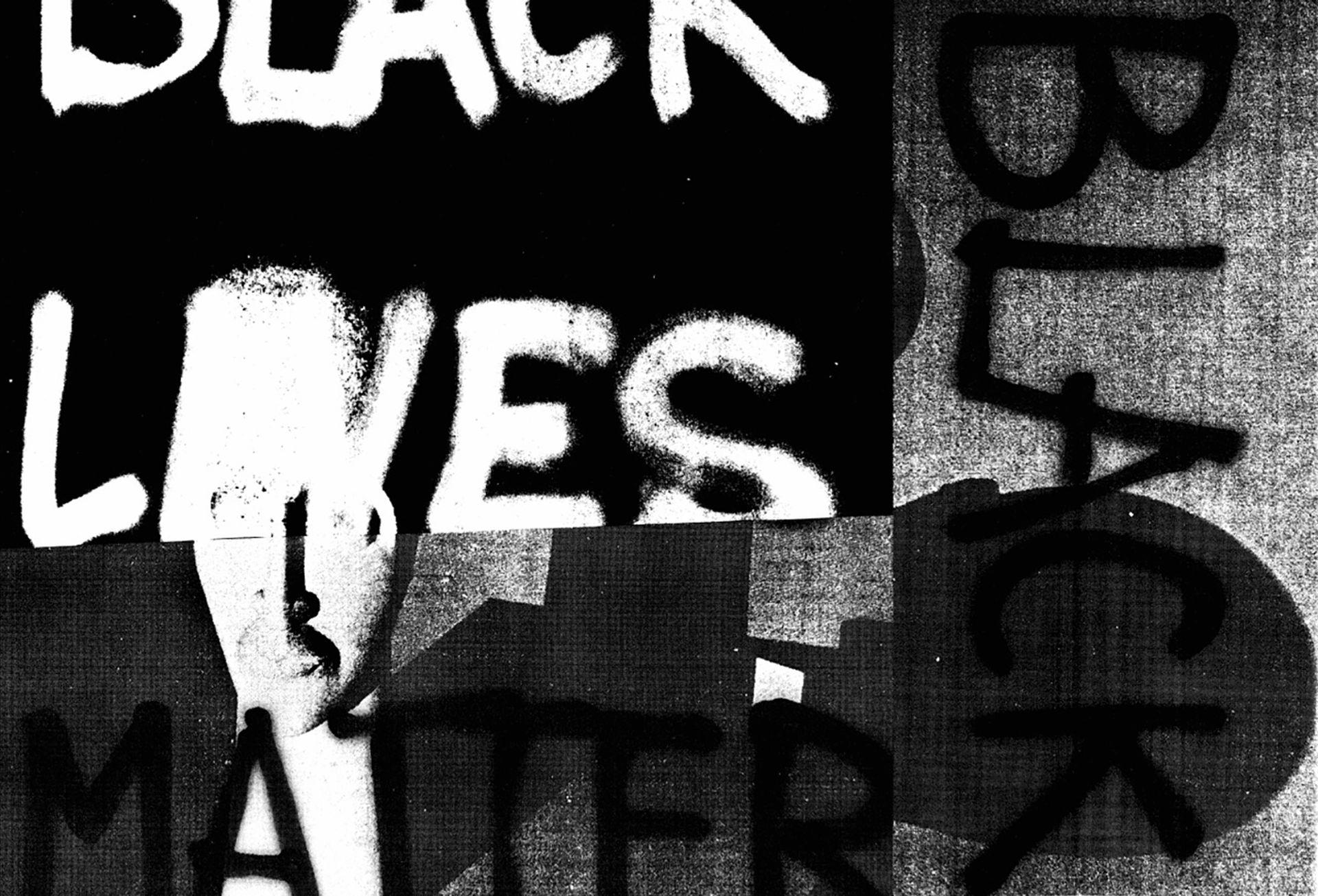 Adam Pendleton  Black Dada Flag (Black Lives Matter) (2015-18)
