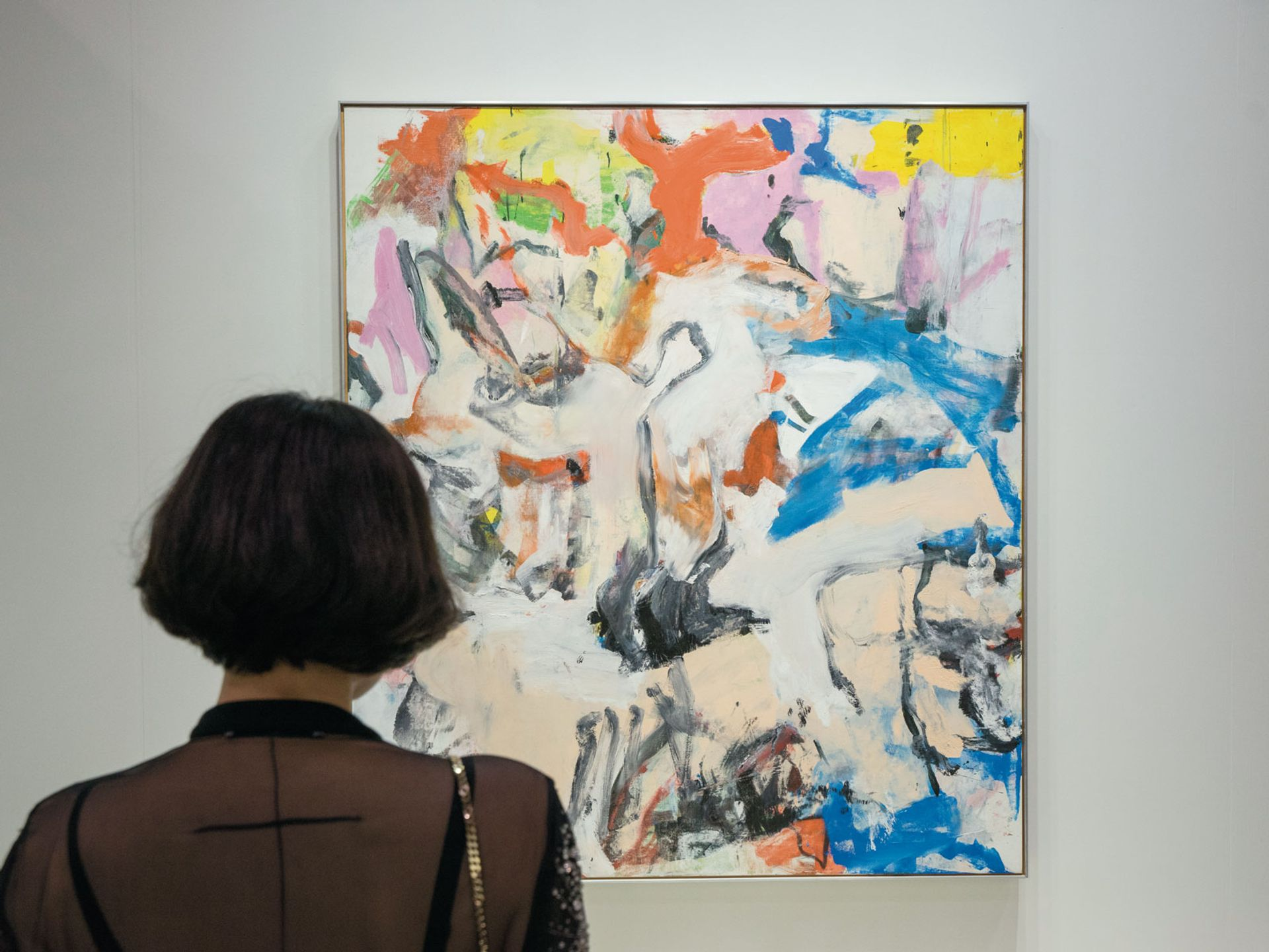 Willem de Kooning's Untitled XII (1975) sold for a price tag of $35m at the fair Liu Jingya