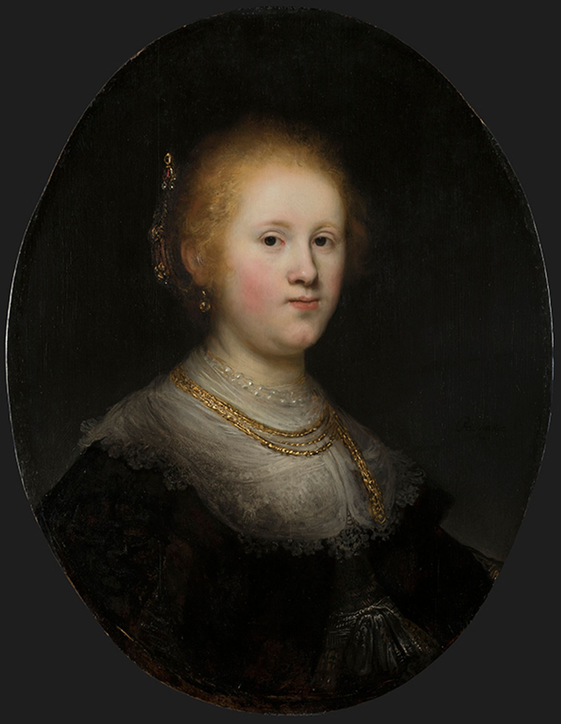 Rembrandt's Portrait of a Young Woman (1632) has gone on view at the Allentown Art Museum Courtesy of the Allentown Art Museum