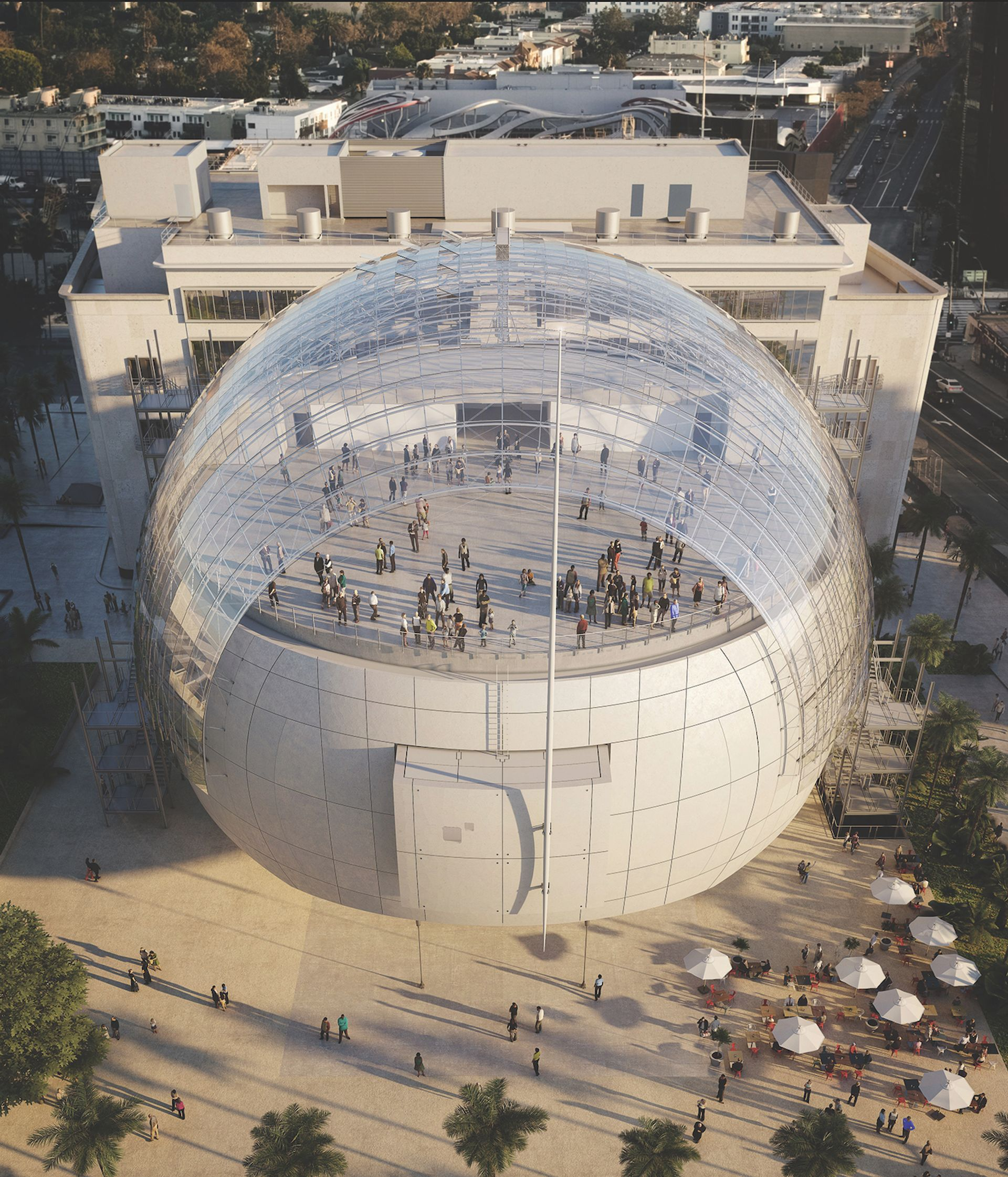 A rendering of The Academy Museum, which will open on 14 December in Los Angeles L'Autre Image; © Renzo Piano Building Workshop/Academy Museum Foundation