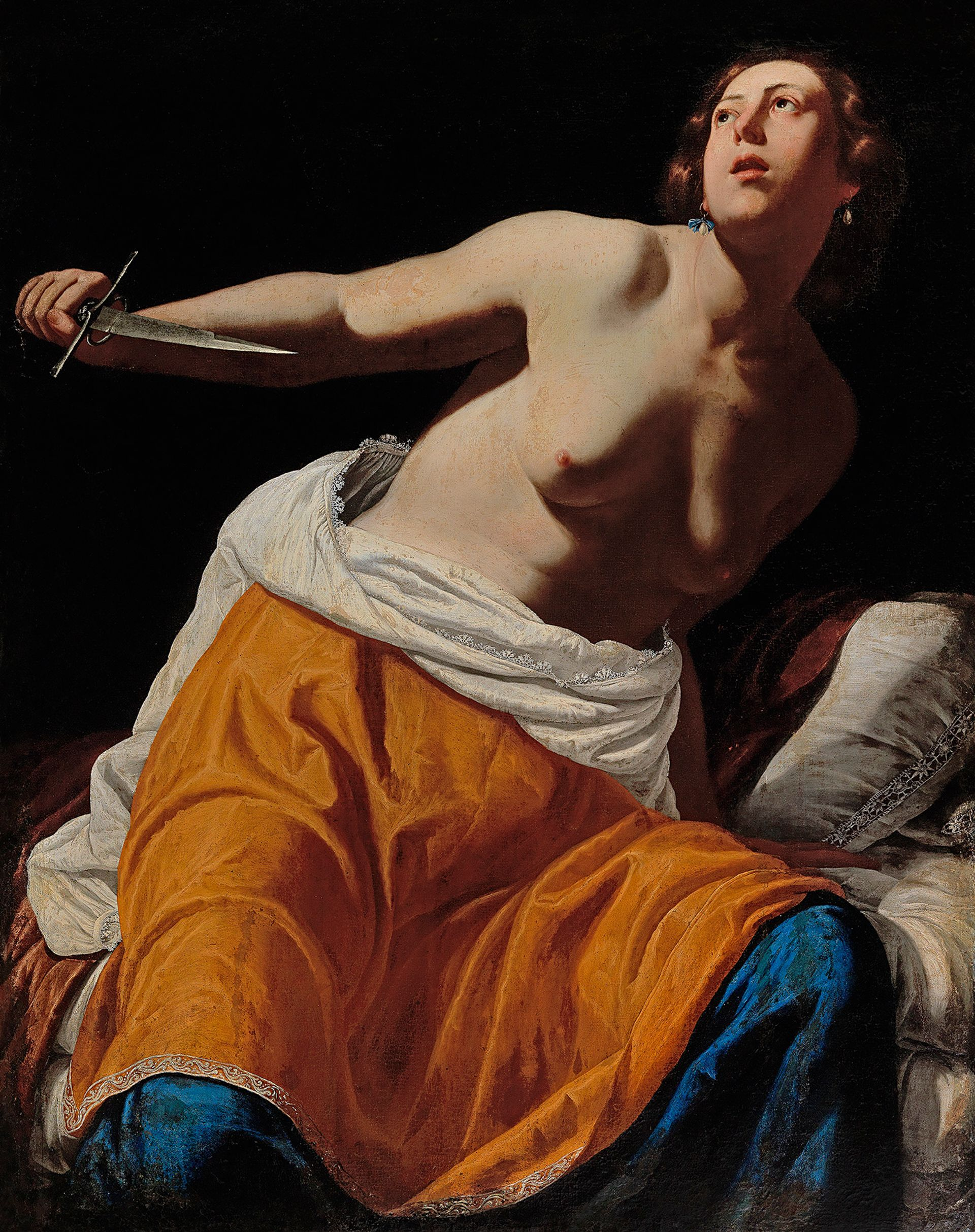 Lucretia, by the female Italian Baroque painter Artemisia Gentileschi, has never before been publicly exhibited Courtesy of Dorotheum