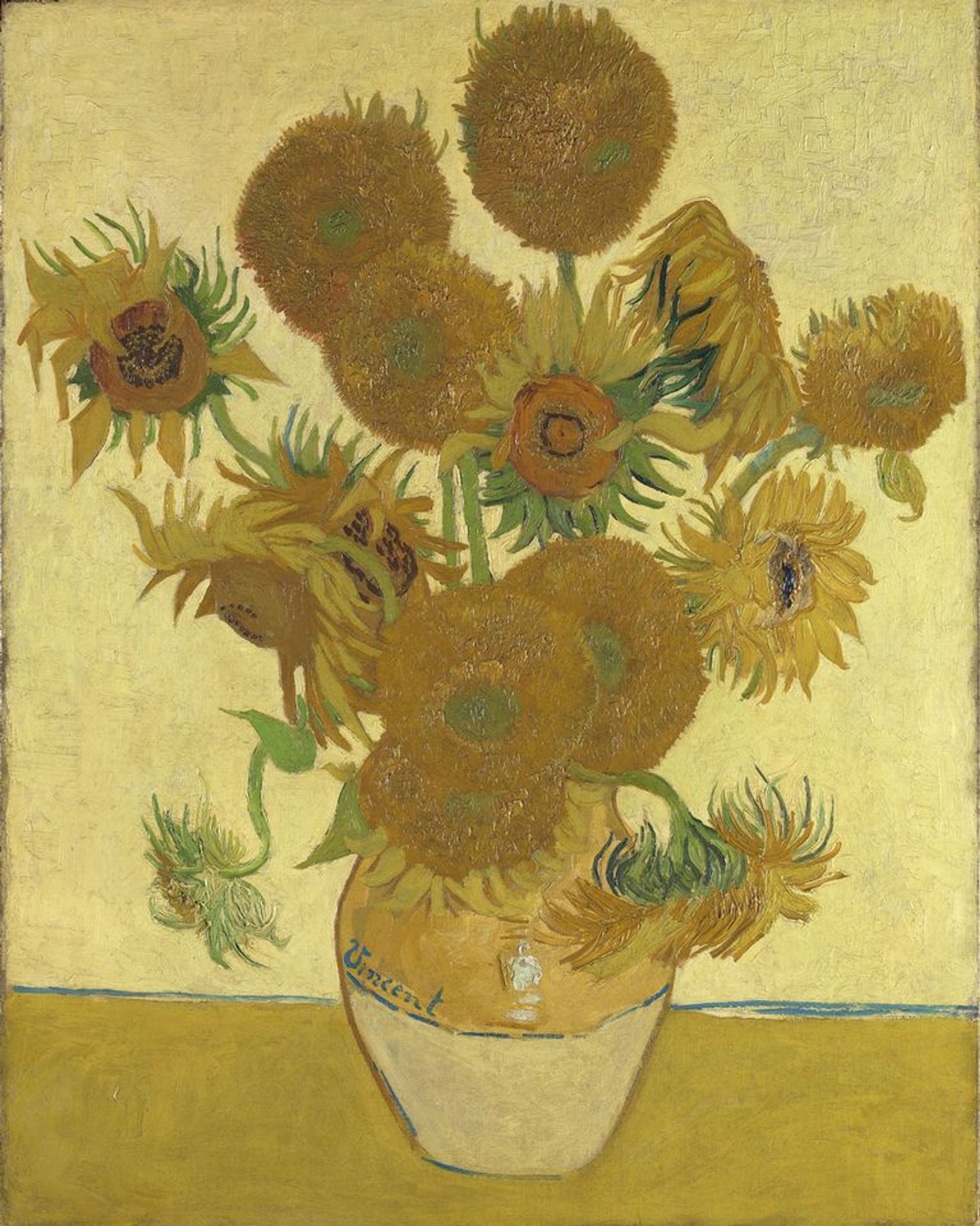 Van Gogh's Sunflowers (1888) in the National Gallery is going to Japan © The National Gallery, London/ Bought, Courtauld Fund, 1924