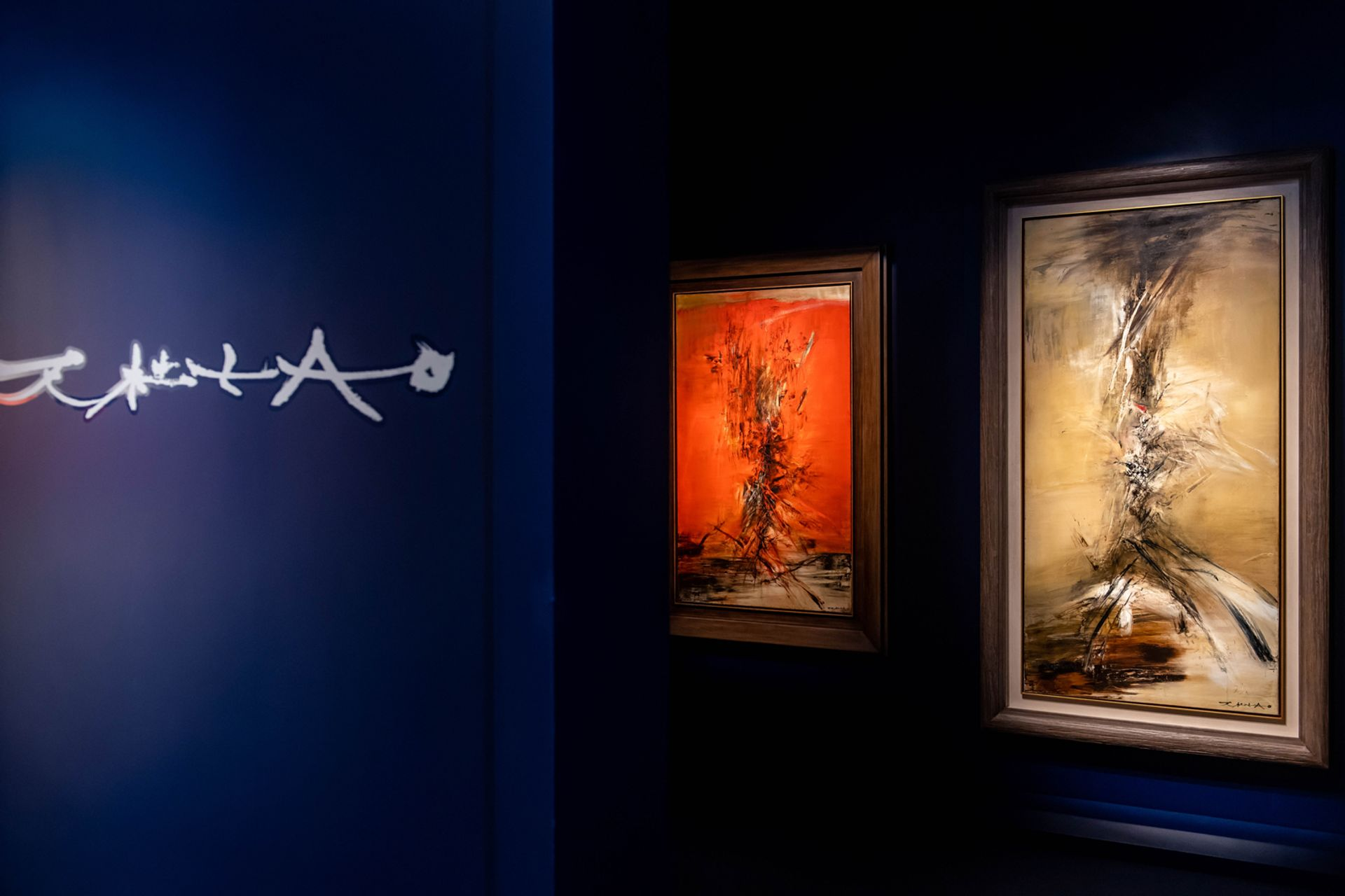 Two works by Zao Wou-Ki from the artist's Hurricane Period, 22.6.63 and 24.10.63 were sold for a total of HK$100m at Phillips last week Image courtesy of Phillips