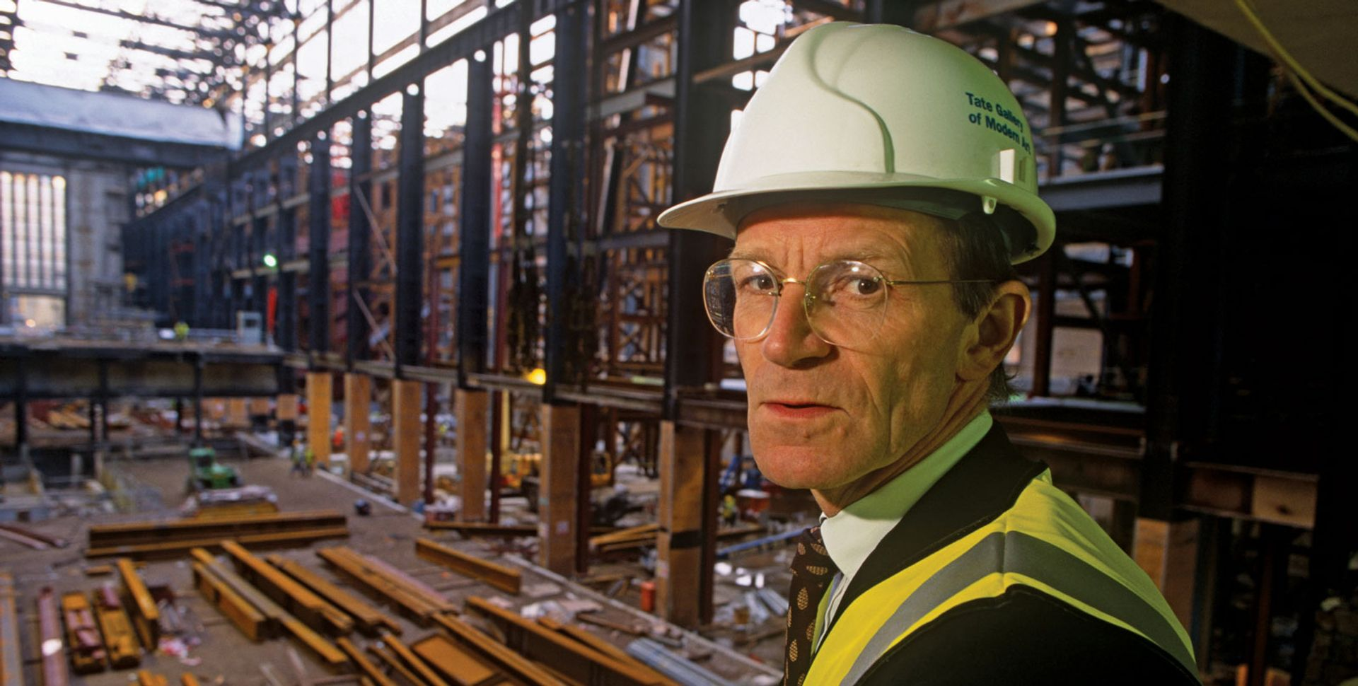 Nicholas Serota on a visit to the disused Bankside power station that eventually became Tate Modern Richard Baker/Alamy