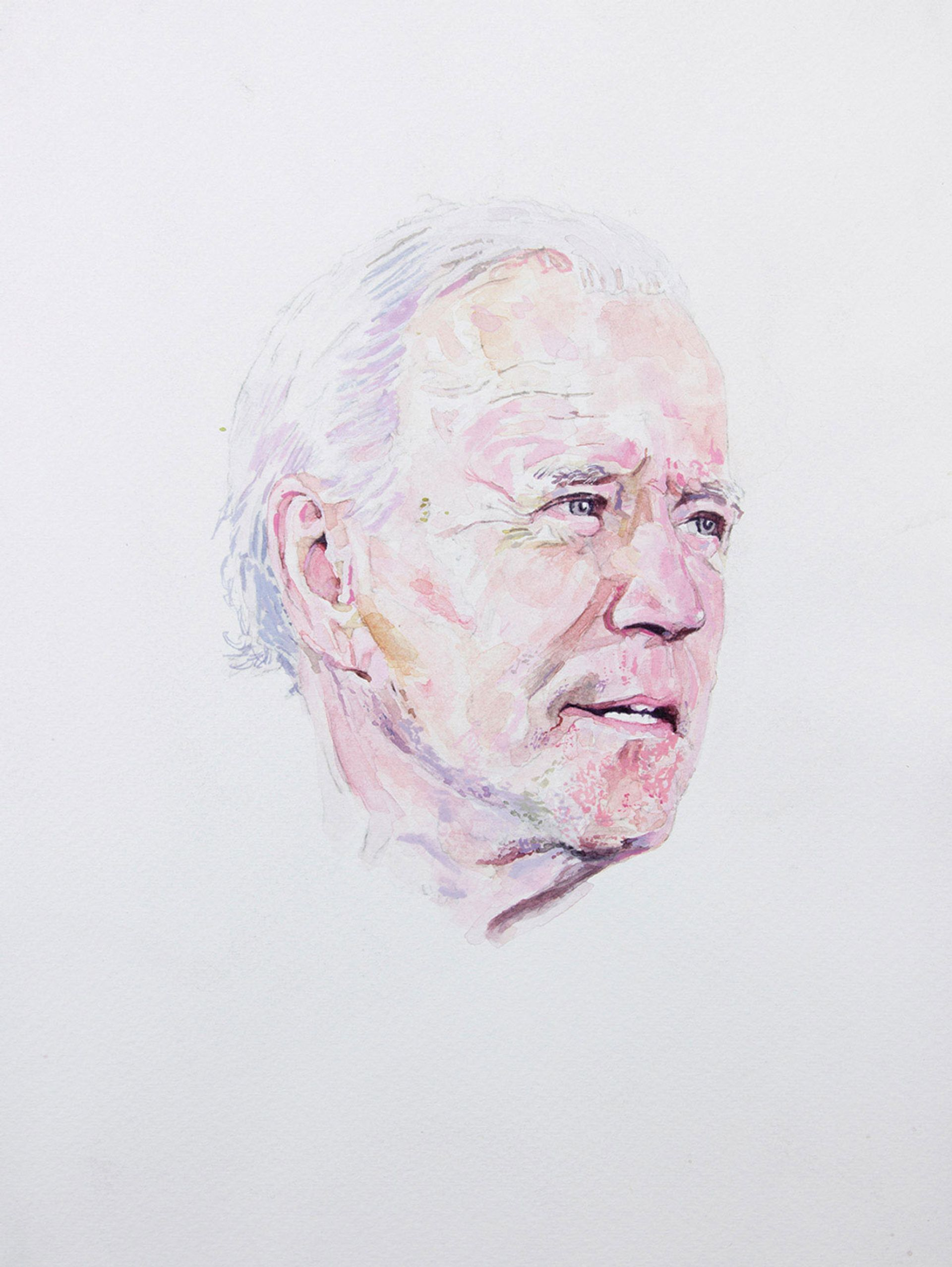Joe Biden (Democratic Presidential Nominee) (2020) by William Powhida, one of seven artists commissioned to document the events of last year Courtesy of the artist and Postmasters Gallery
