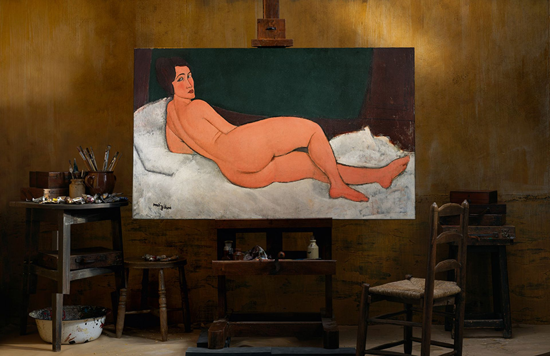 Nu couché (sur le côté gauche) (1917), one of Amedeo Modigliani's famous nudes, which will be offered Sotheby's New York on 14 May with an estimate in excess of $150m Courtesy of Sotheby's