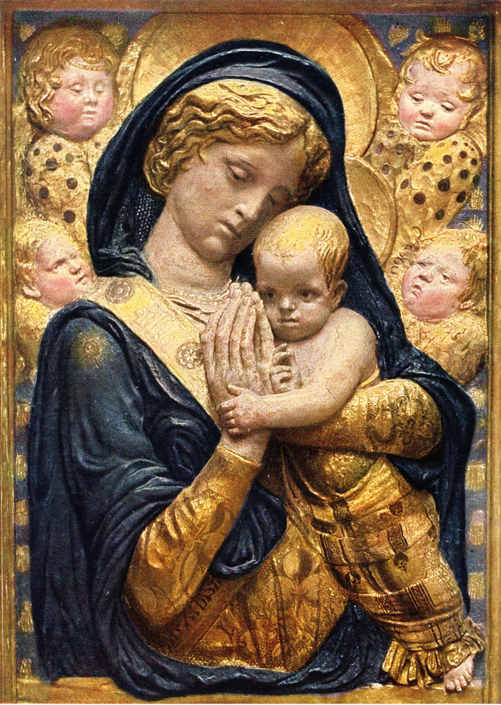 Donatello's Madonna with Cherubim (around 1440) before the fire. Staatliche Museen zu Berlin, Skulpturensammlung und Museum für Byzantinische Kunst