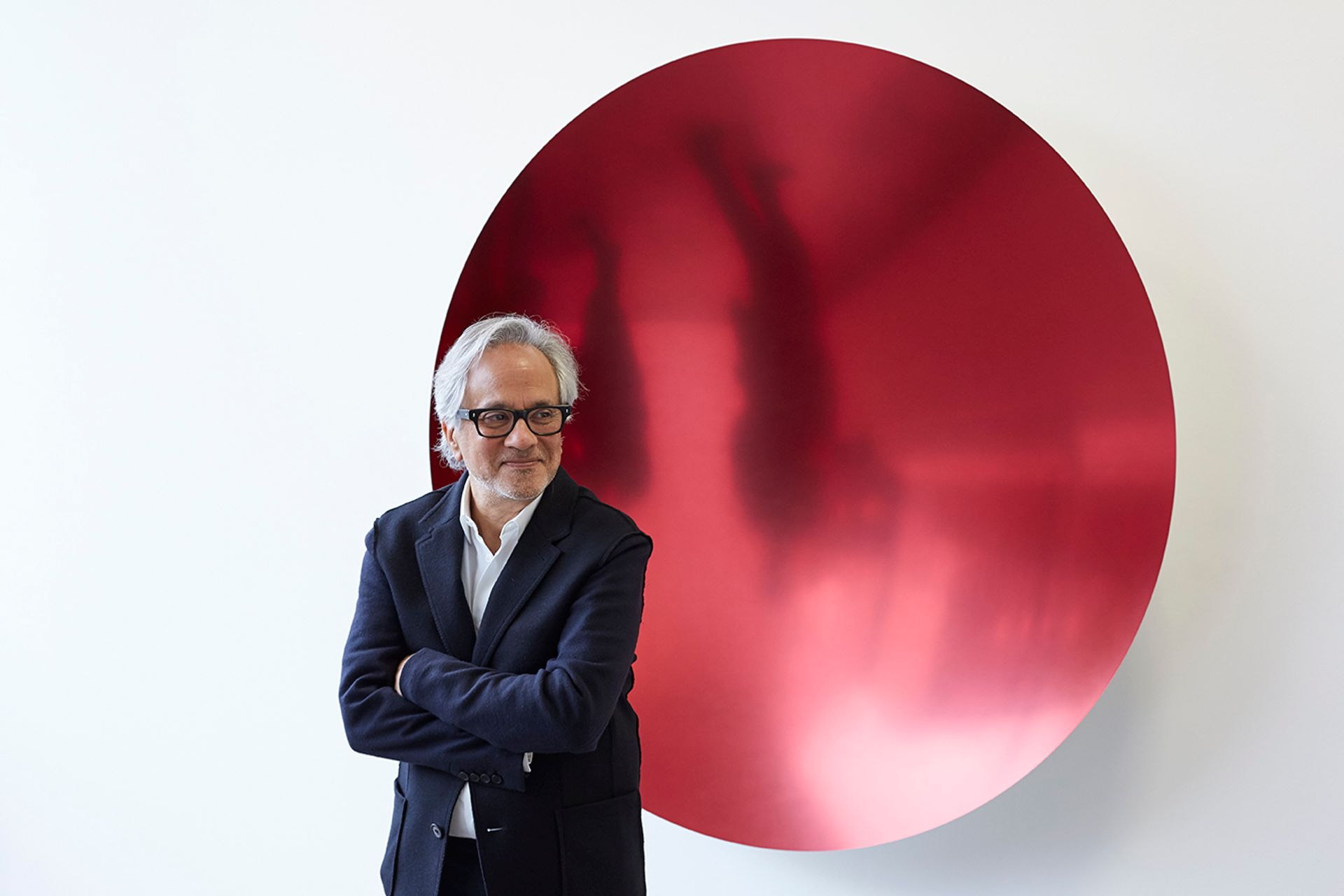 """Anish Kapoor will reveal his works using the """"blackest"""" pigment to the public for the first time Photo: Jack Hems; courtesy of Lisson Gallery"""
