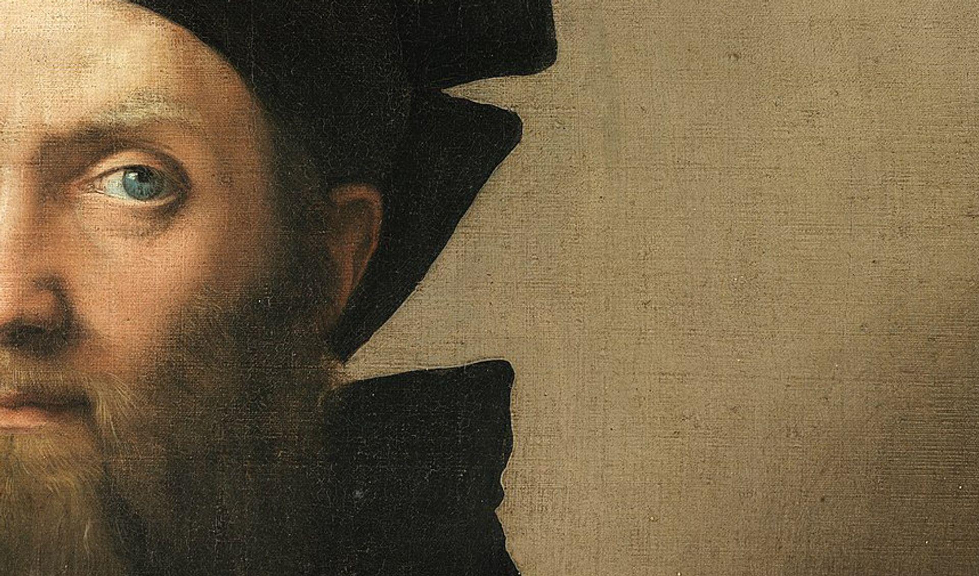 A close up of Raphael's Baldassare Castiglion (1514-15)