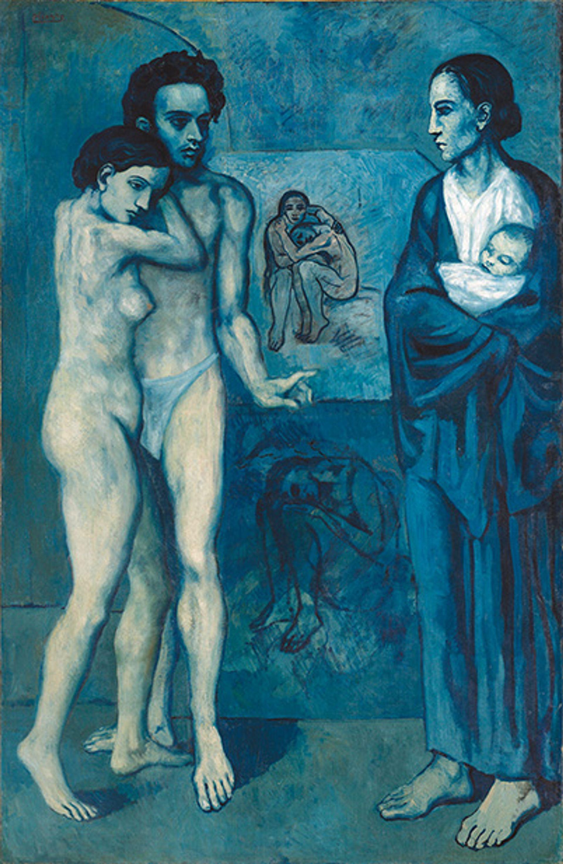Pablo Picasss's La Vie (1903) © Succession Picasso / ProLitteris, Zürich 2018; Photo: © The Cleveland Museum of Art