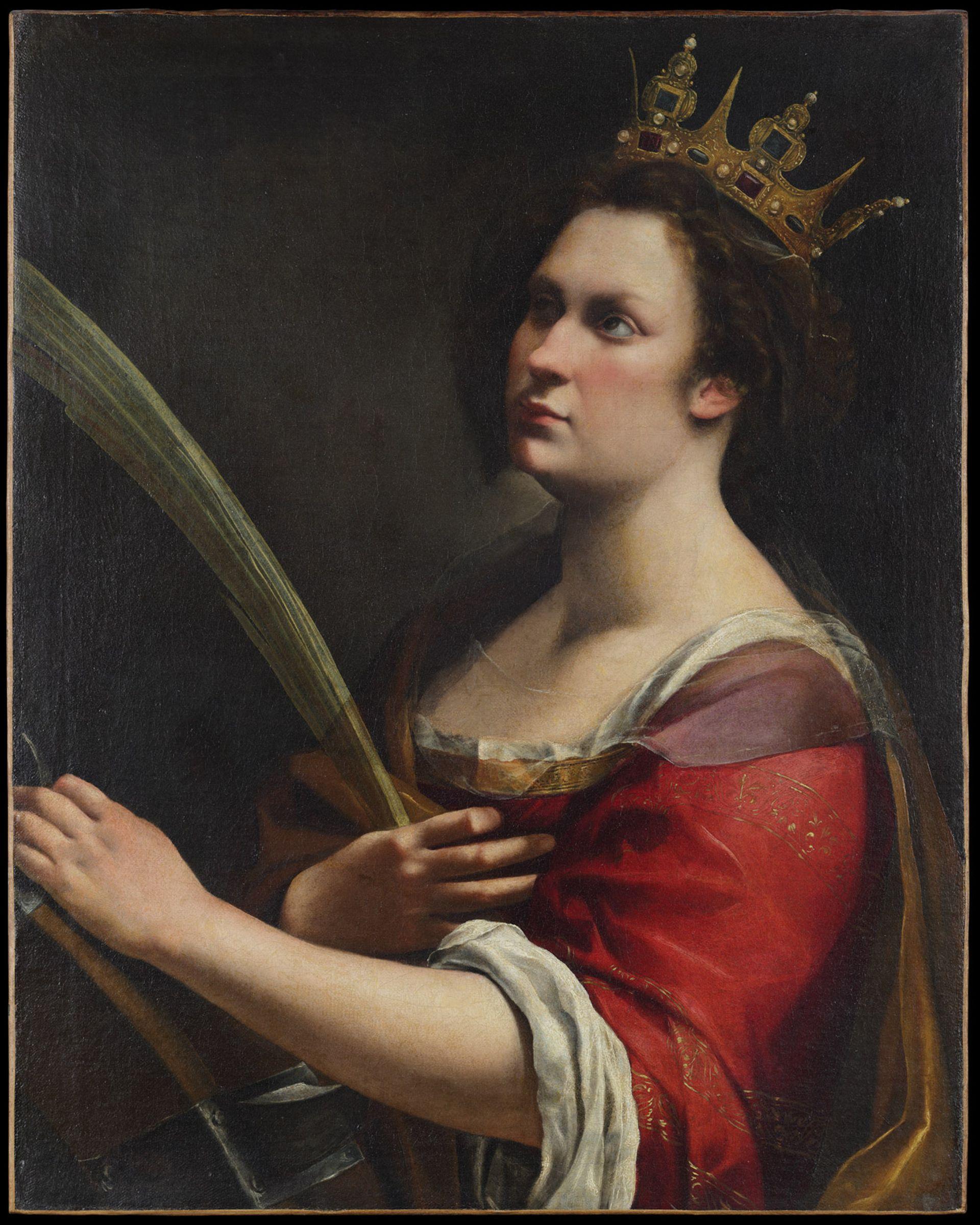 The Uffizi's Saint Catherine of Alexandria (1618-20) was examined by Italian state conservators at the Opificio delle Pietre Dure in Florence © Galleria degli Uffizi