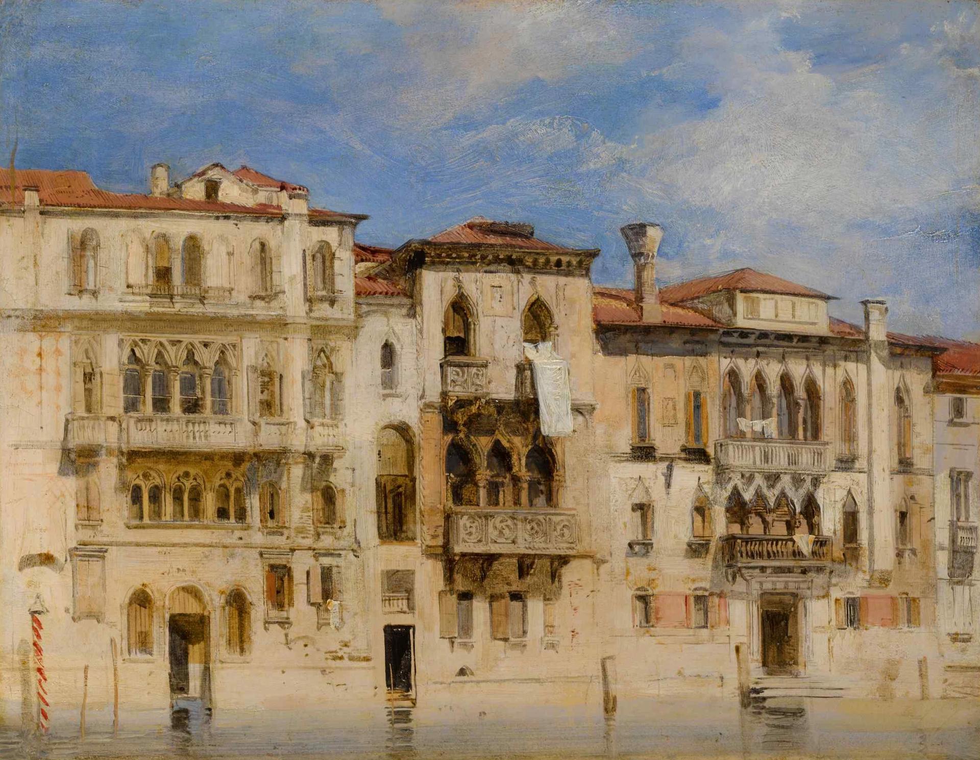 Boninton's The Palazzo Monolesso-Ferro, Palazzo Contarini-Fasan, and Palazzo Contarini Courtesy of Sotheby's