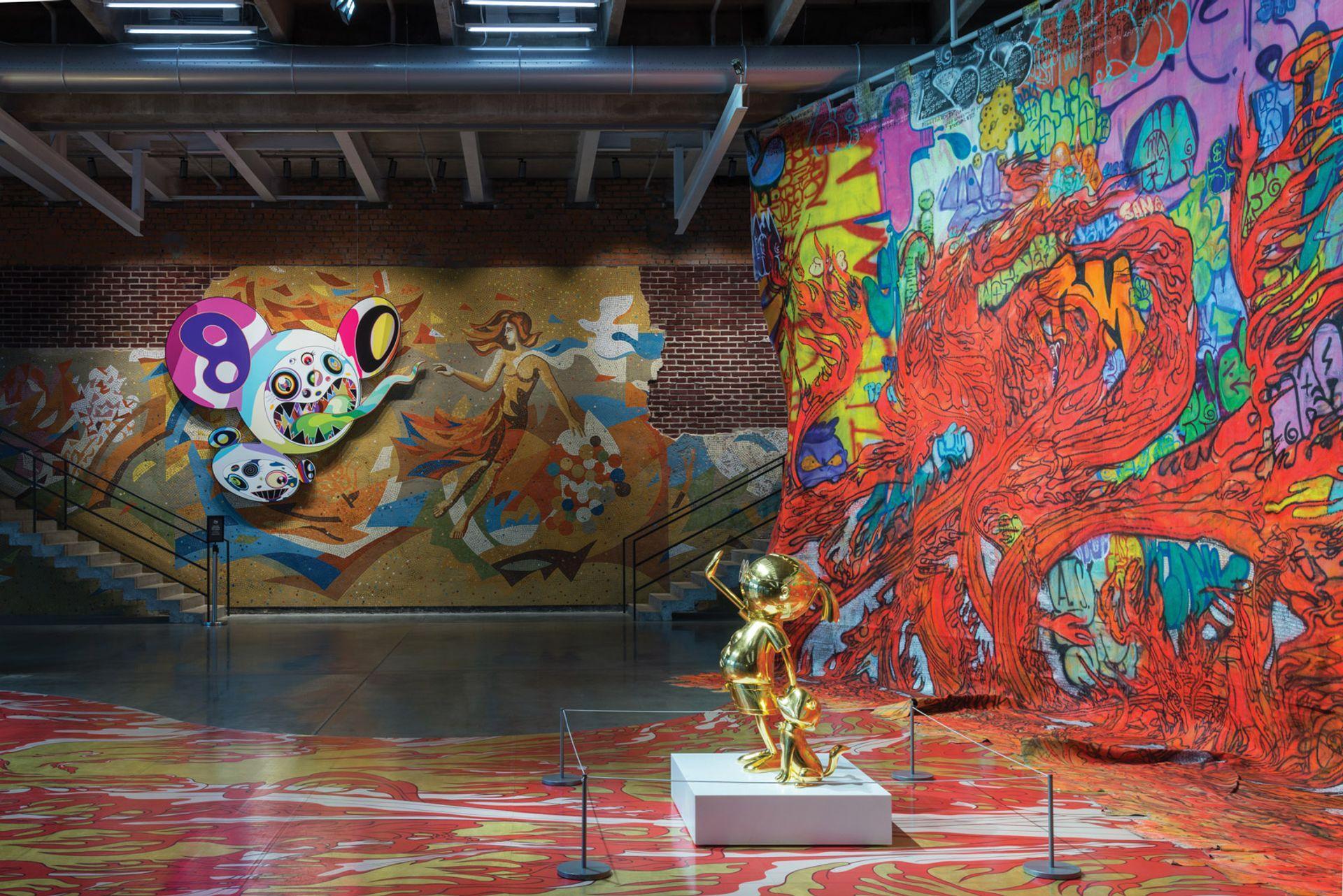 Garage's recent exhibition Takashi Murakami: Under the Radiation Falls Garage
