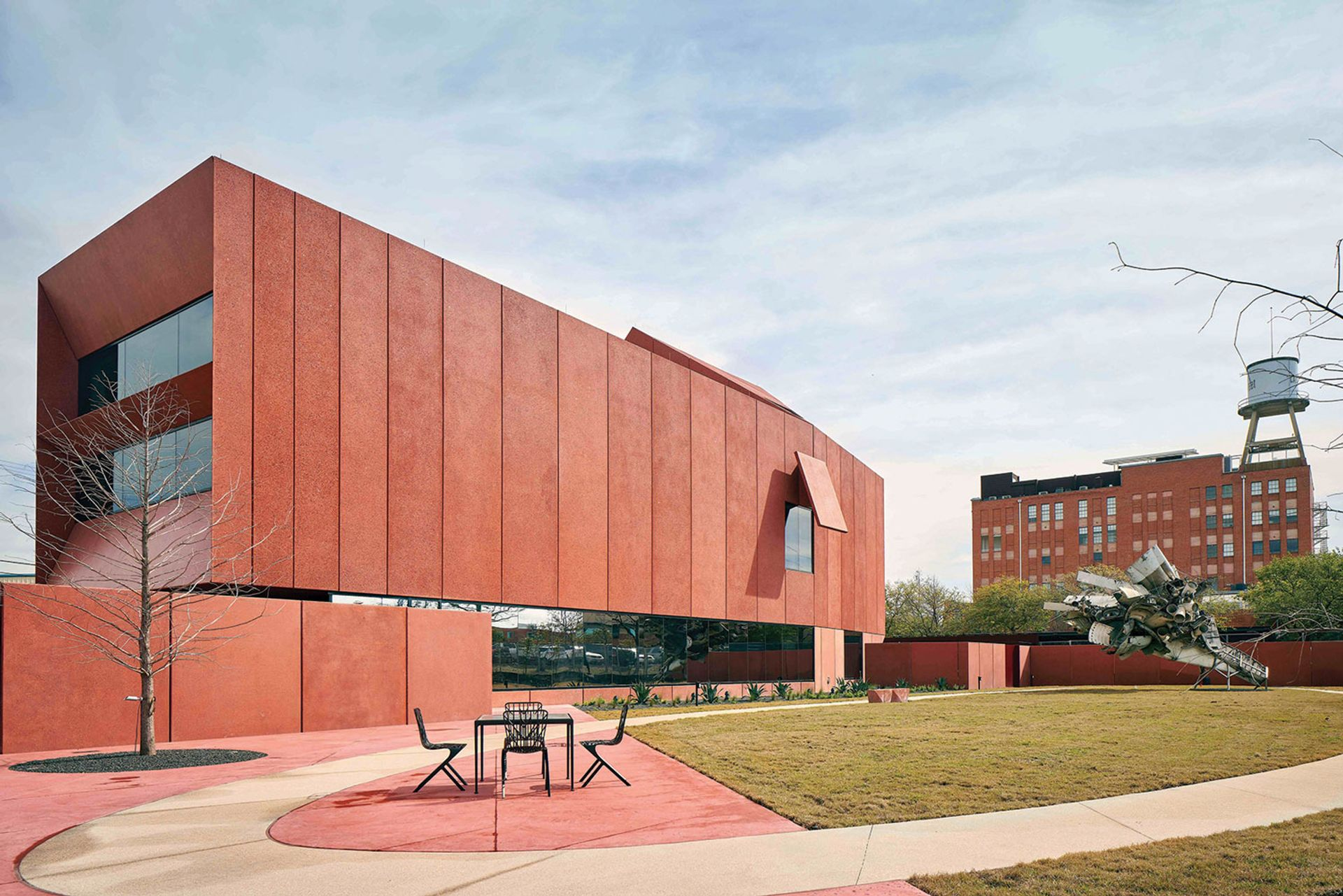 The jewel-like red building preserves the legacy of the late Linda Pace, the Texan hot-sauce heiress, collector and artist Dror Baldinger; courtesy of Ruby City and Adjaye Associates