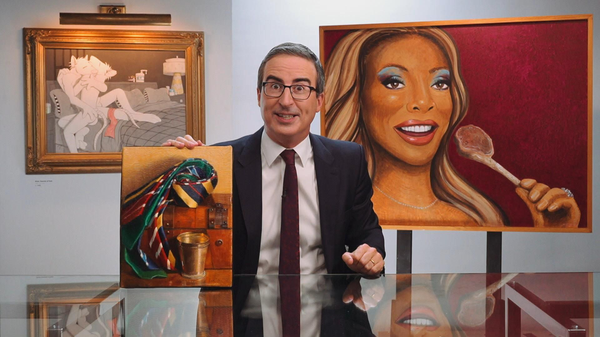 John Oliver is keen to share his art collection with US museums