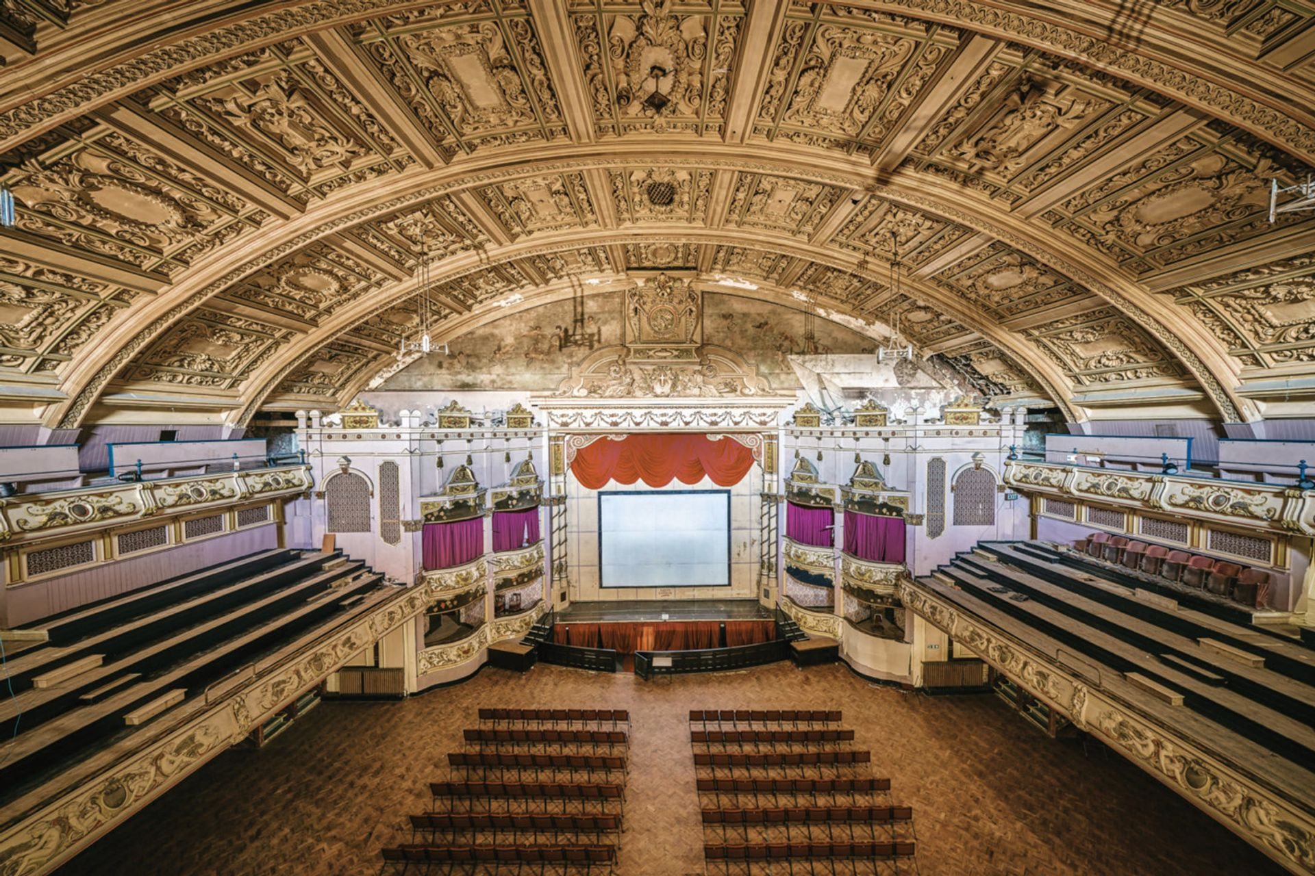 Patching up a gaping hole in the vaulted ceiling of the Morecambe Winter Gardens was one of the first restoration tasks Damian Rose/Morecambe Winter Gardens Preservation Trust