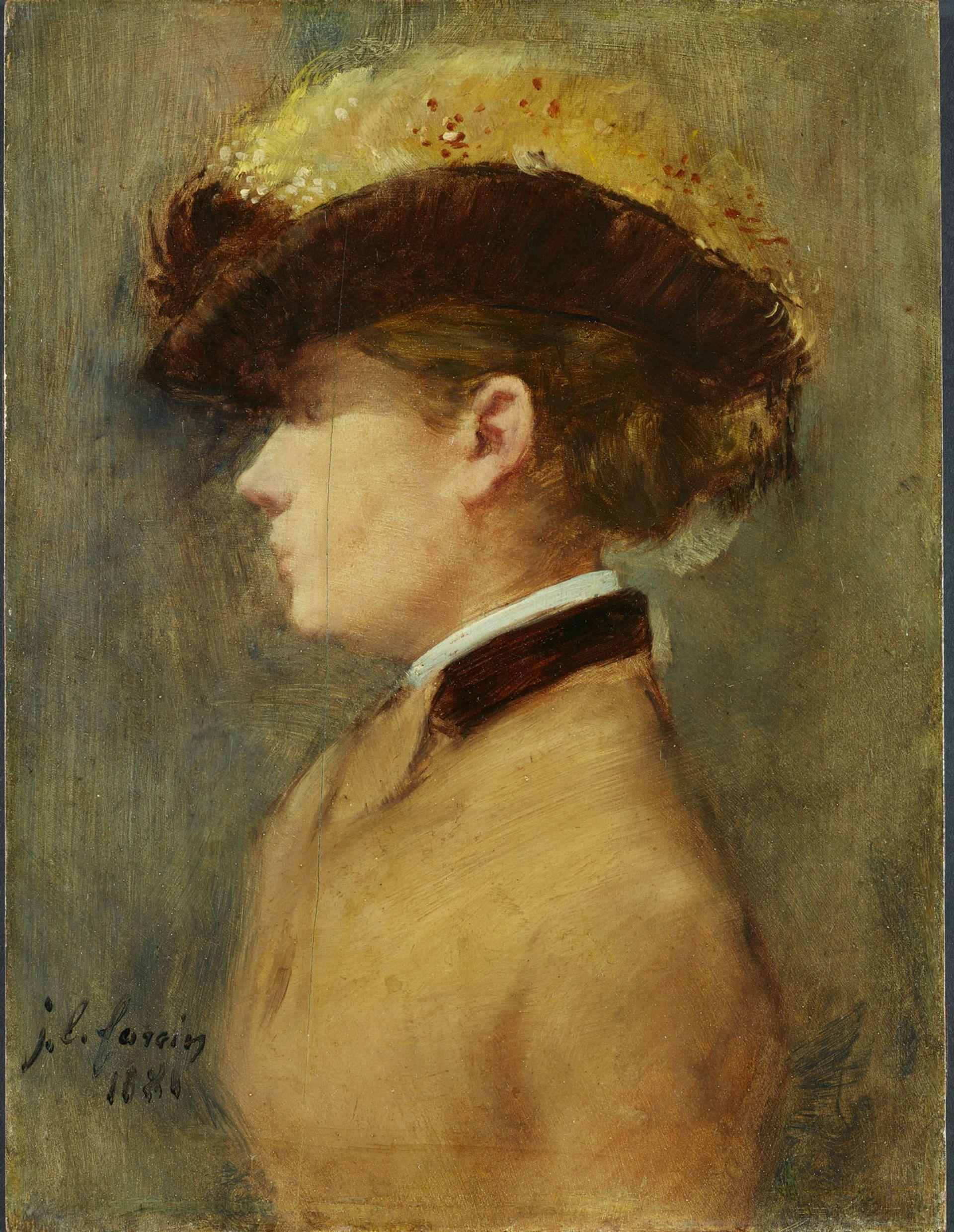 Jean-Louis Forain, Dame im Profil (woman in profile) © Mick Vincenz © Kunstmuseum Bern und Kunst- und Ausstellungshalle der Bundesrepublik Deutschland GmbH