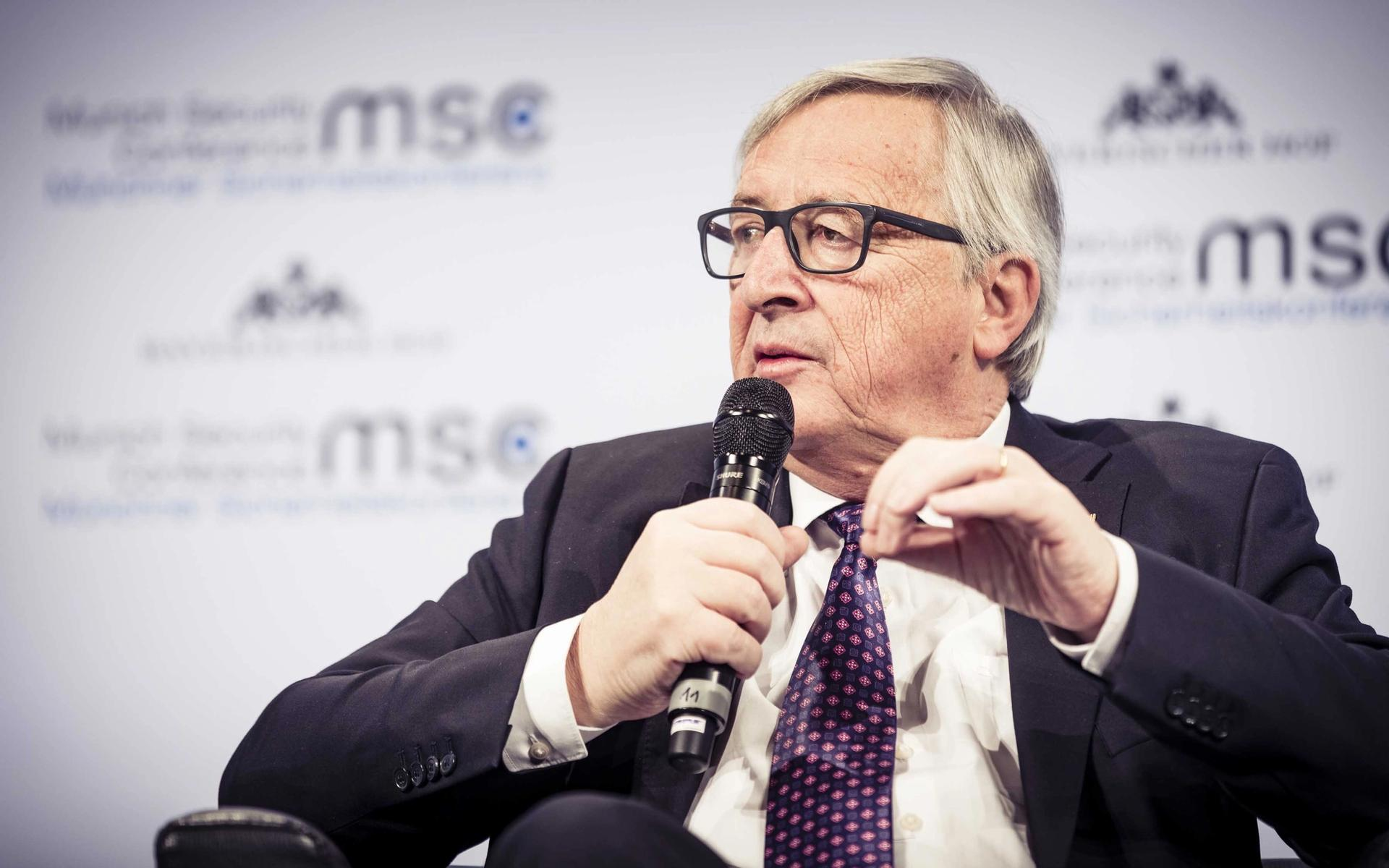 Jean-Claude Juncker speaking at the Munich Security Conference in 2018 © MSC/Kuhlmann
