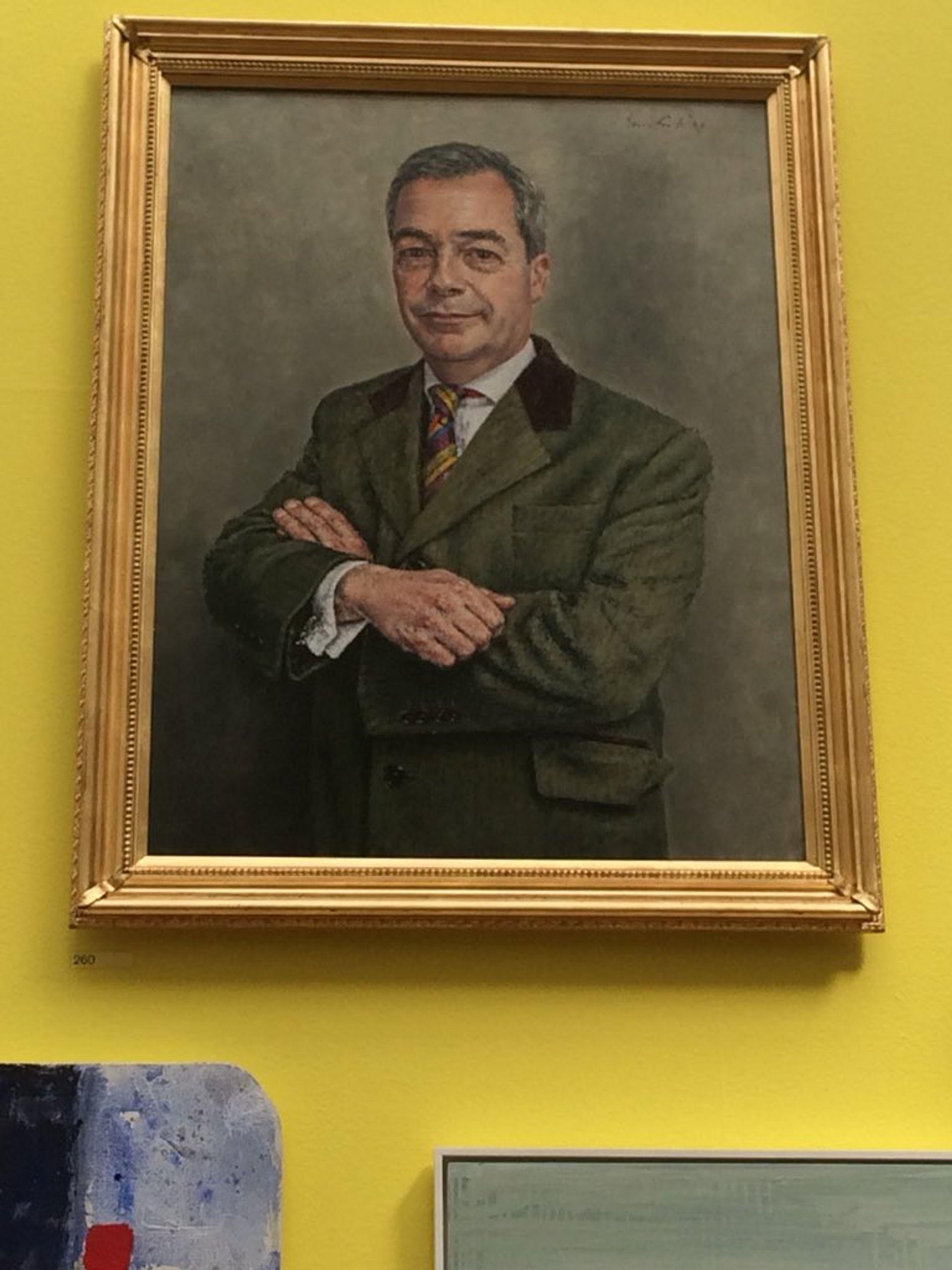 Nigel Farage MEP (2018) by David Griffiths © courtesy Bob Hawkins