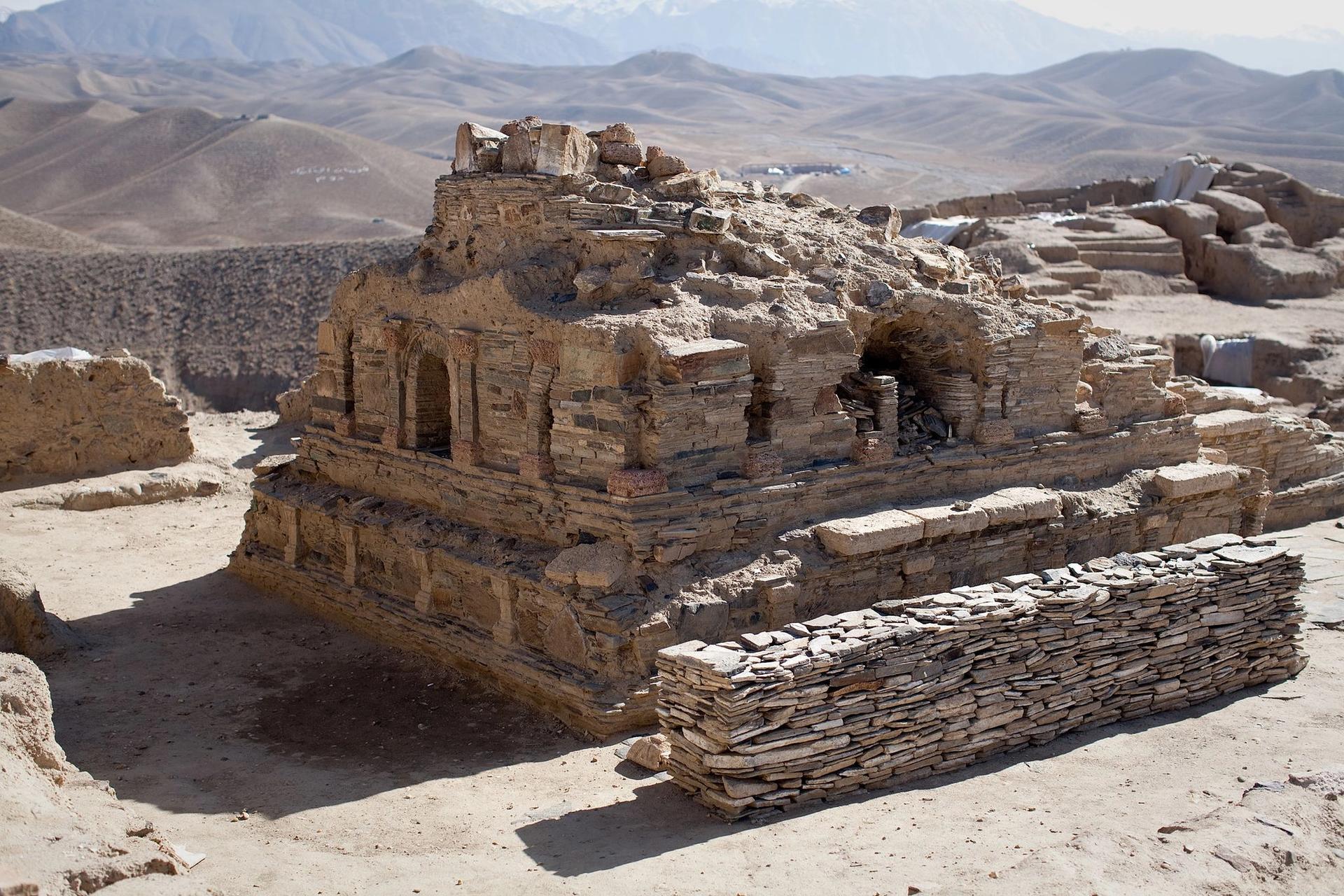 The Buddhist ruins sit atop 450 million metric tonnes of copper ore Photo: Jerome Starkey