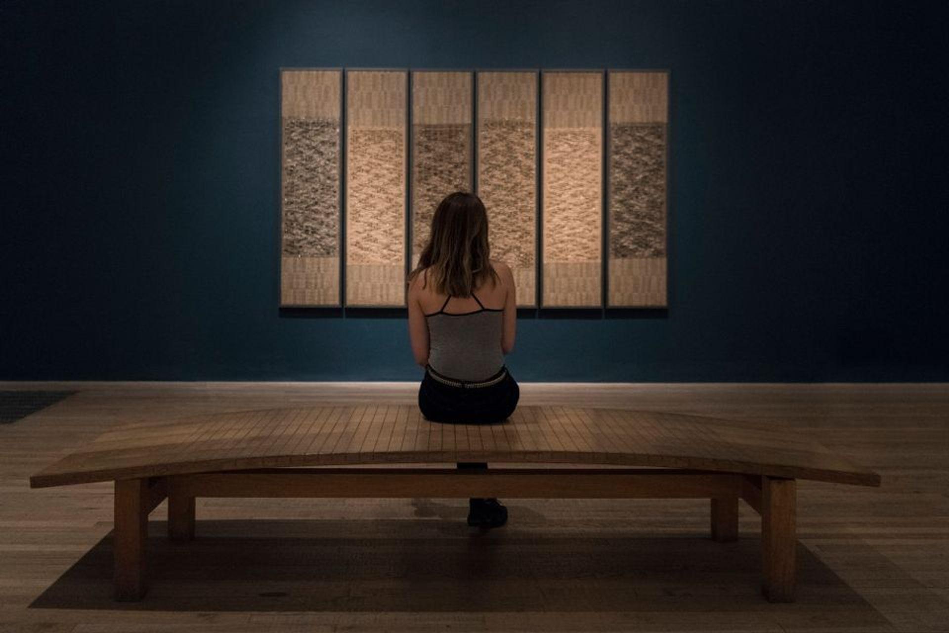 An installation view of Anni Albers's Six Prayers at Tate Modern Photo: © Tate, 2018