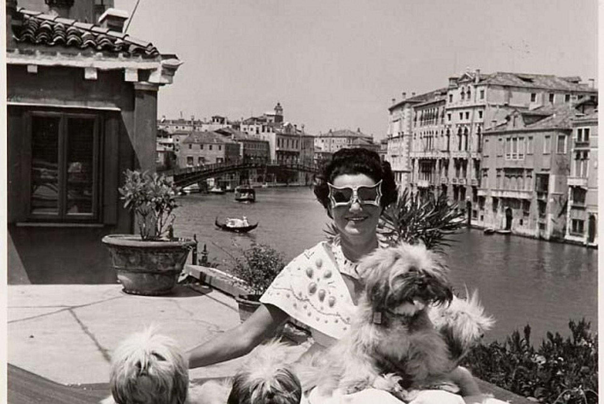 Peggy Guggenheim at her home in the Palazzo Venier dei Leoni, Venice, Italy, 1950 David Seymour