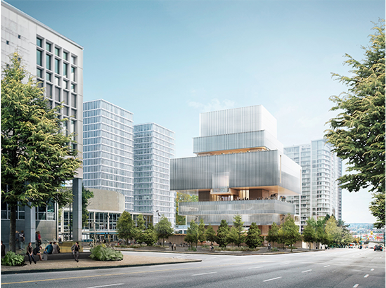 A rendering of the new Vancouver Art Gallery building project, led by Herzog and de Meuron senior partner Christine Binswanger
