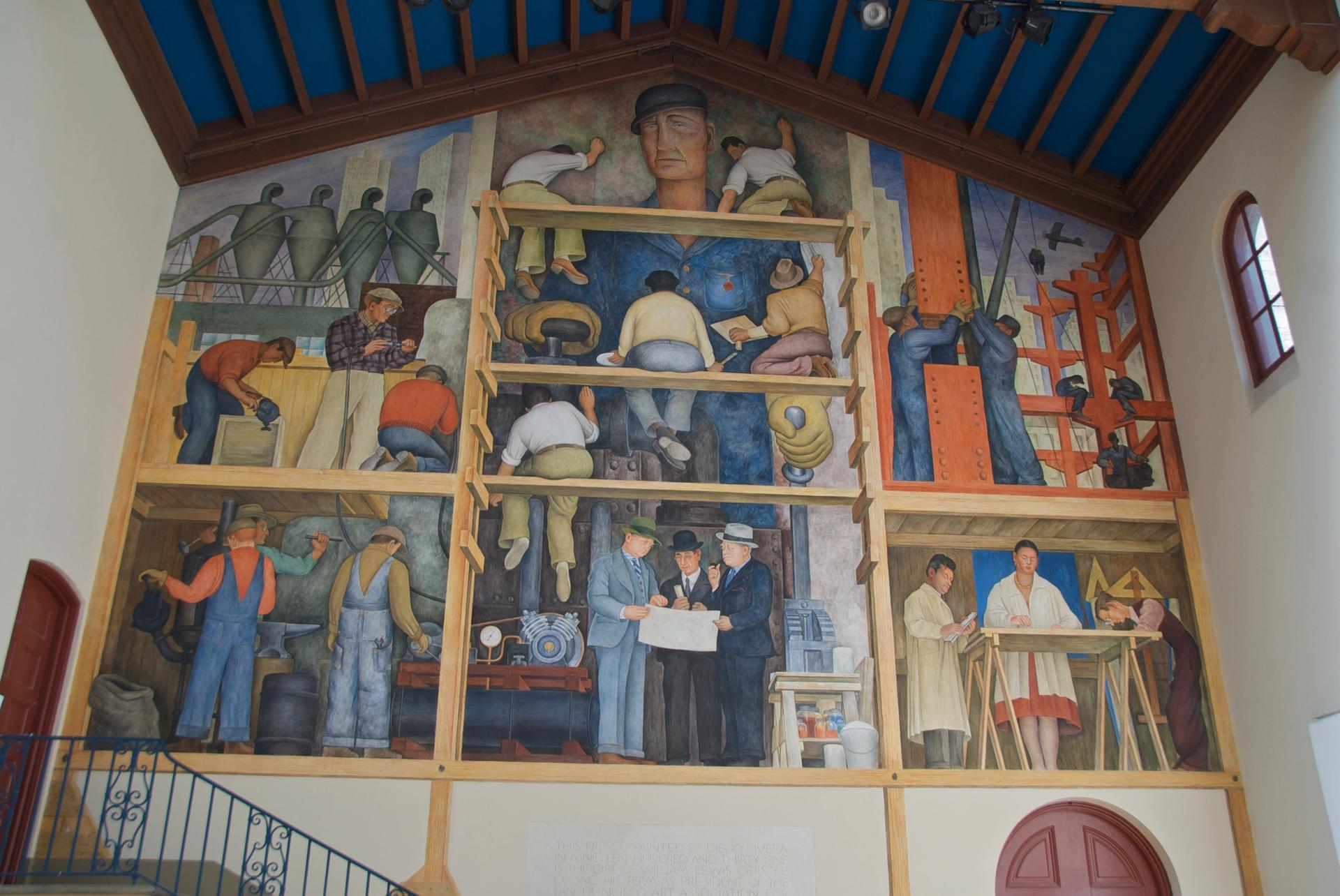 Diego Rivera's The Making of a Fresco Showing the Building of a City at the San Francisco Art Institute Photo: Steve Rhodes