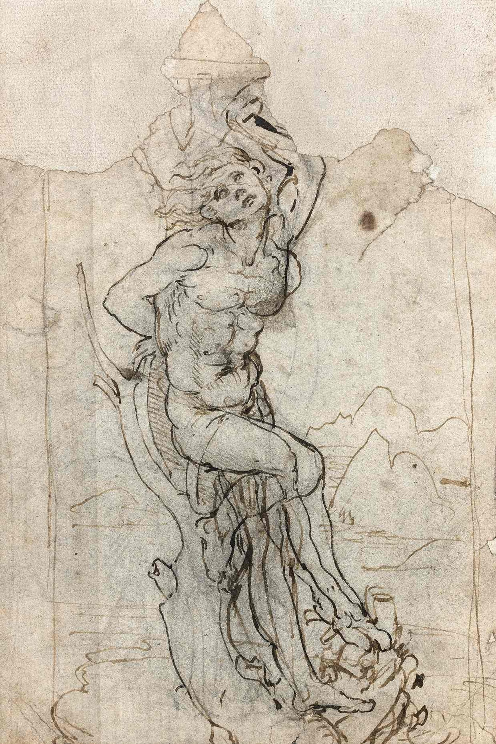 Study for a Saint Sebastian in a landscape (around 1478-83) is thought to be worth €15m